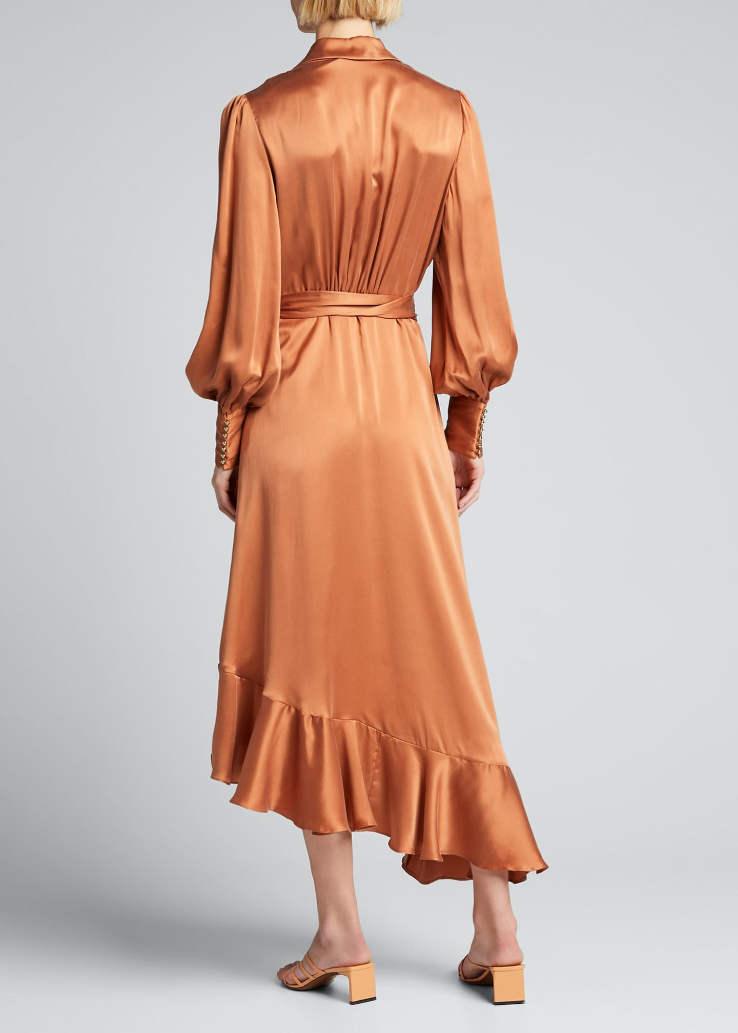 Image 2 of 5: Silk Charmeuse Wrap Dress