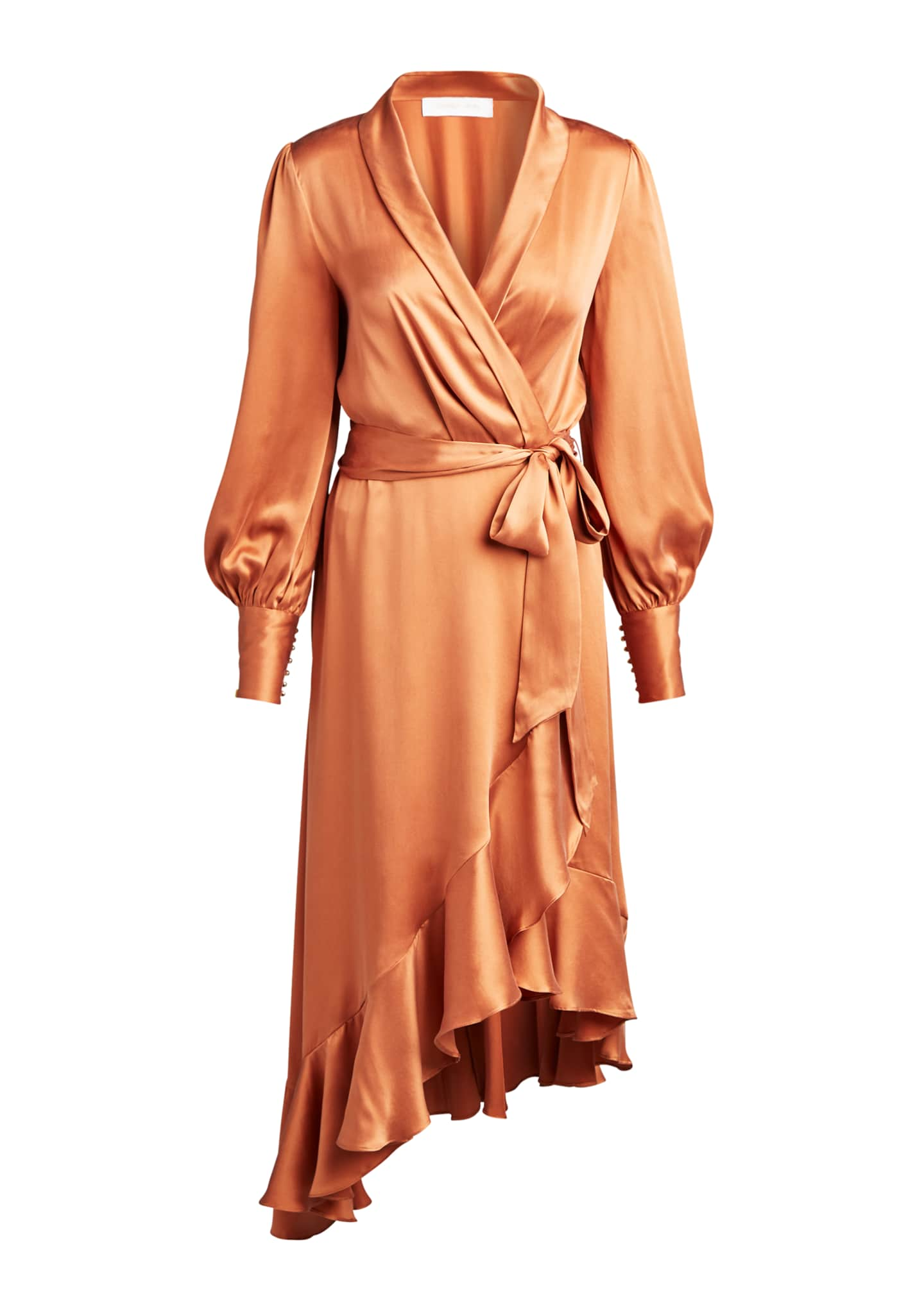 Image 5 of 5: Silk Charmeuse Wrap Dress