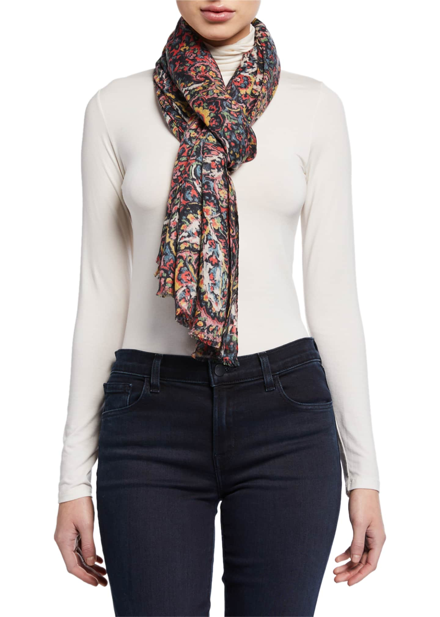 Lily and Lionel Paisley Modal-Cashmere Scarf
