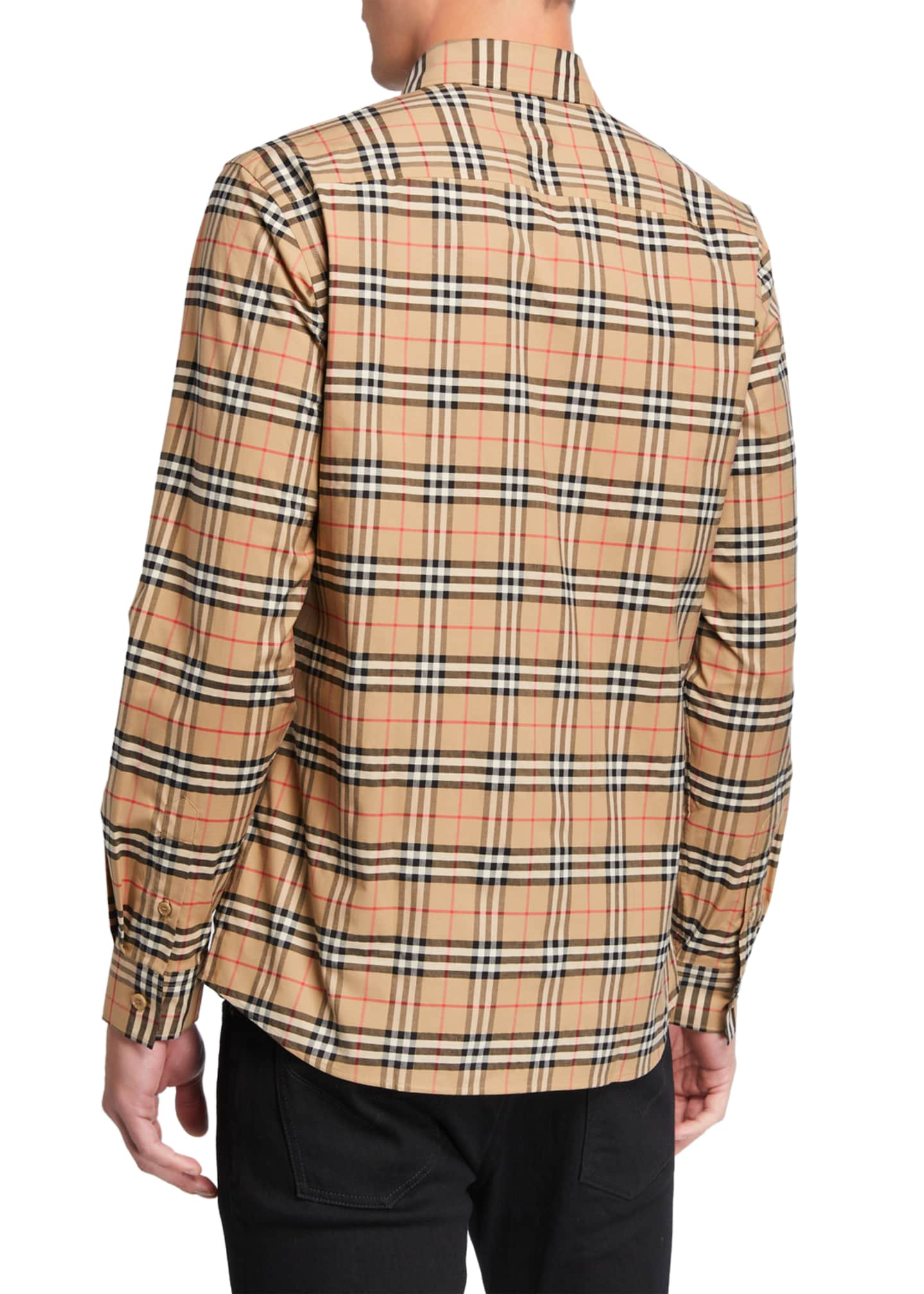 Image 2 of 2: Men's Simpson Check-Pattern Sport Shirt