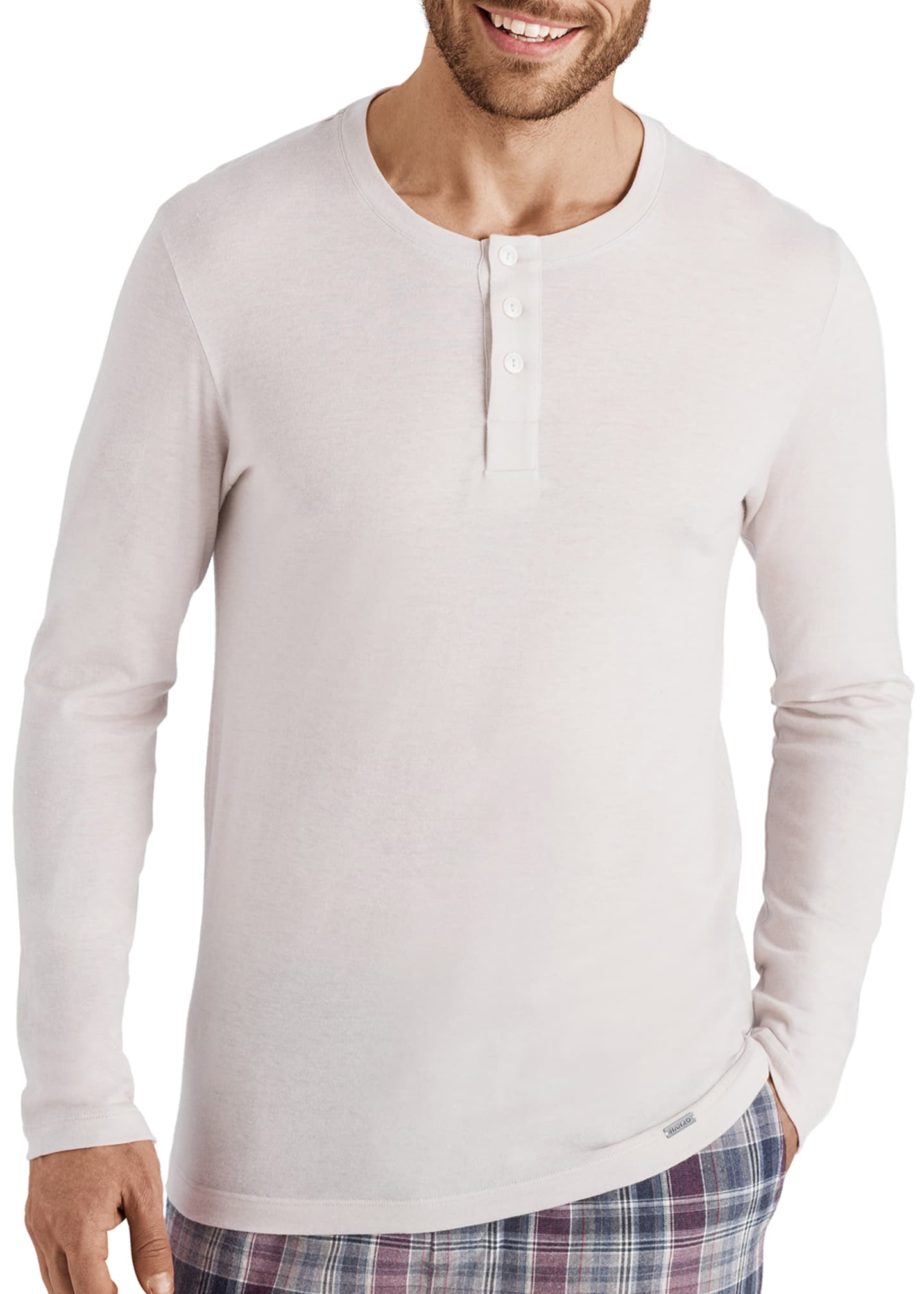 Hanro Men's Thilo Cotton-Cashmere Henley Shirt