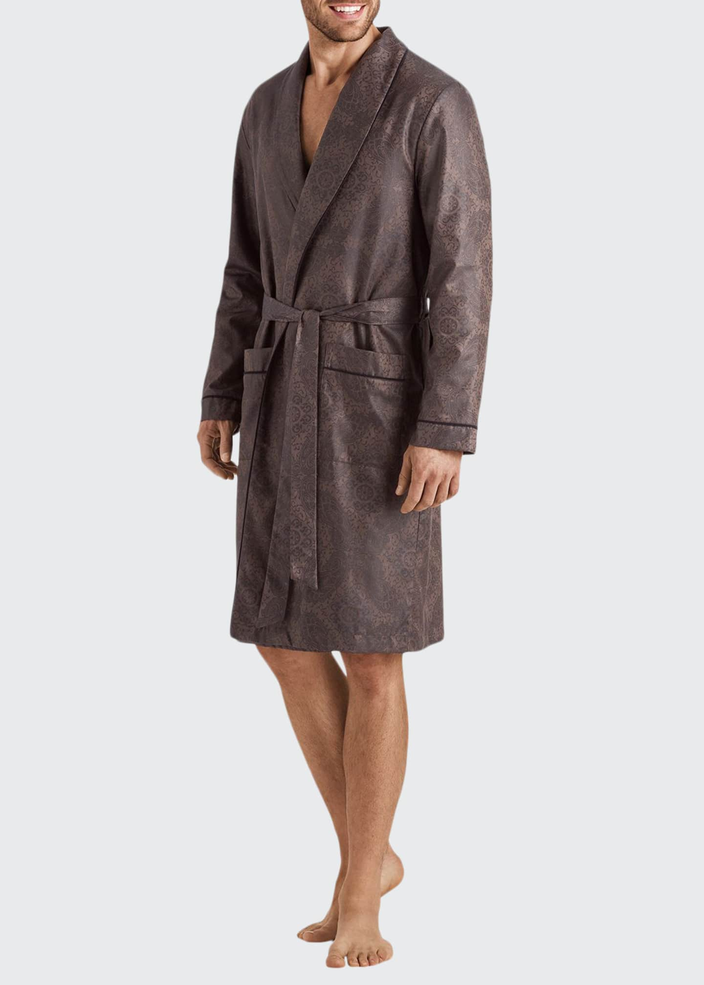 Hanro Men's Select Paisley Medallion Cotton Robe