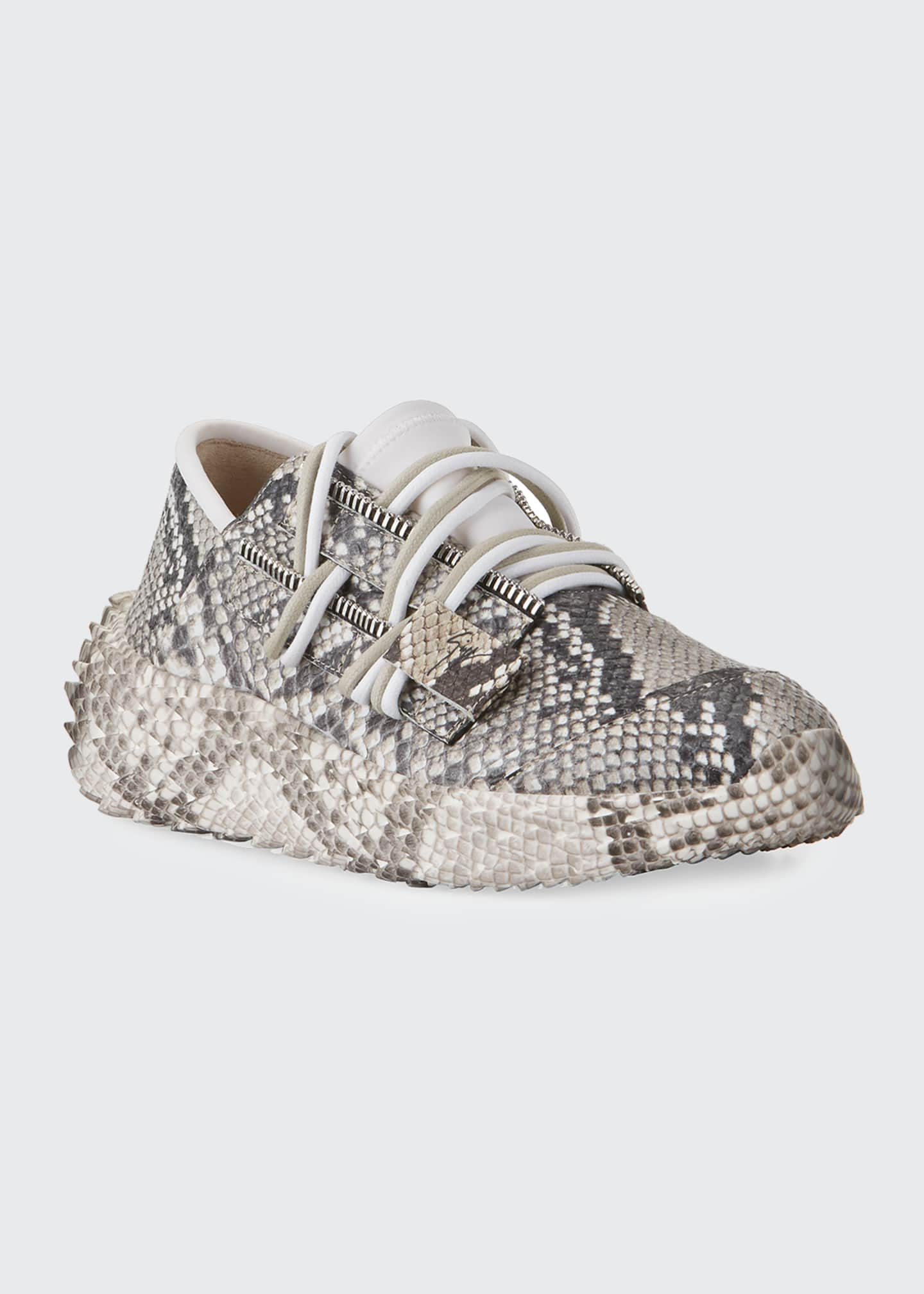 Image 2 of 4: Python-Printed Trainer Sneakers