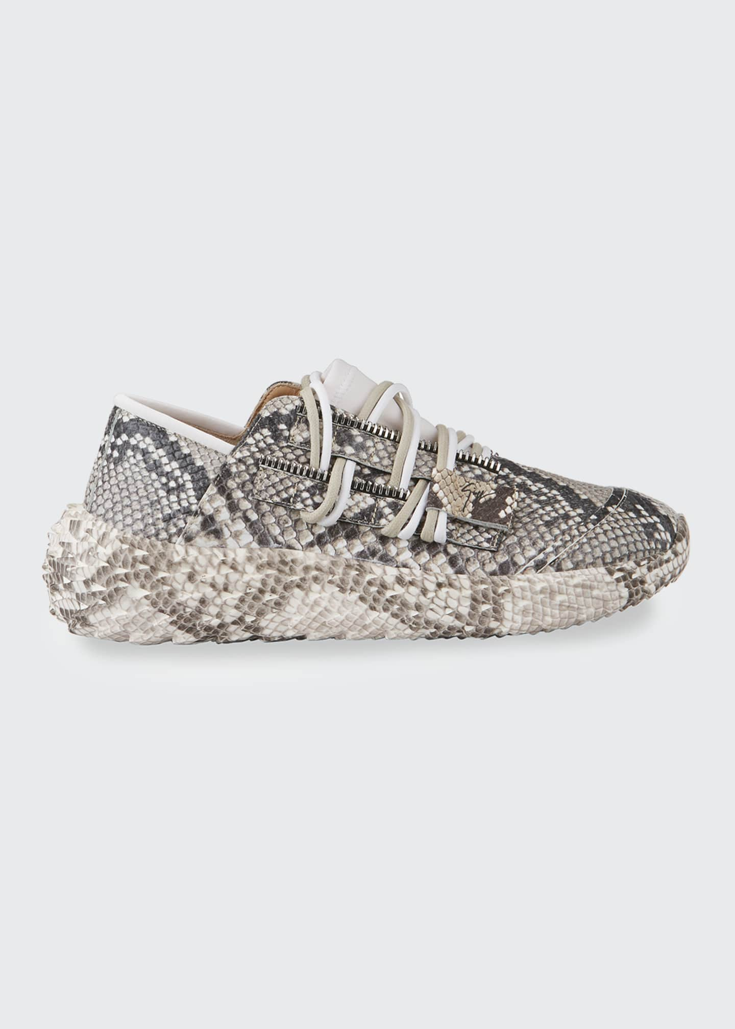 Image 1 of 4: Python-Printed Trainer Sneakers