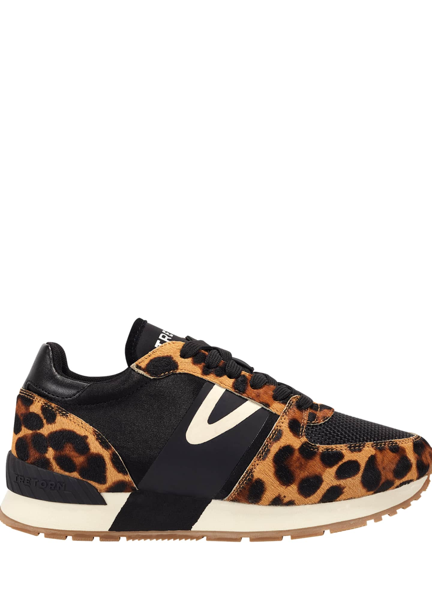 Image 2 of 3: Loyola 10 Leopard-Print Fur Trainer Sneakers