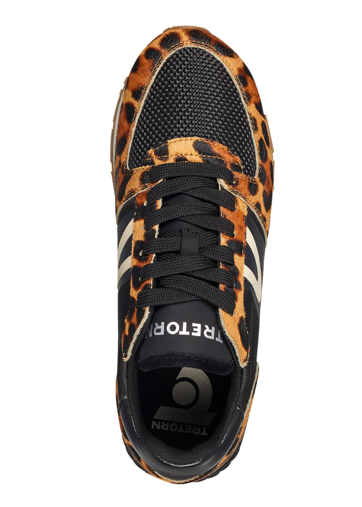 Image 3 of 3: Loyola 10 Leopard-Print Fur Trainer Sneakers