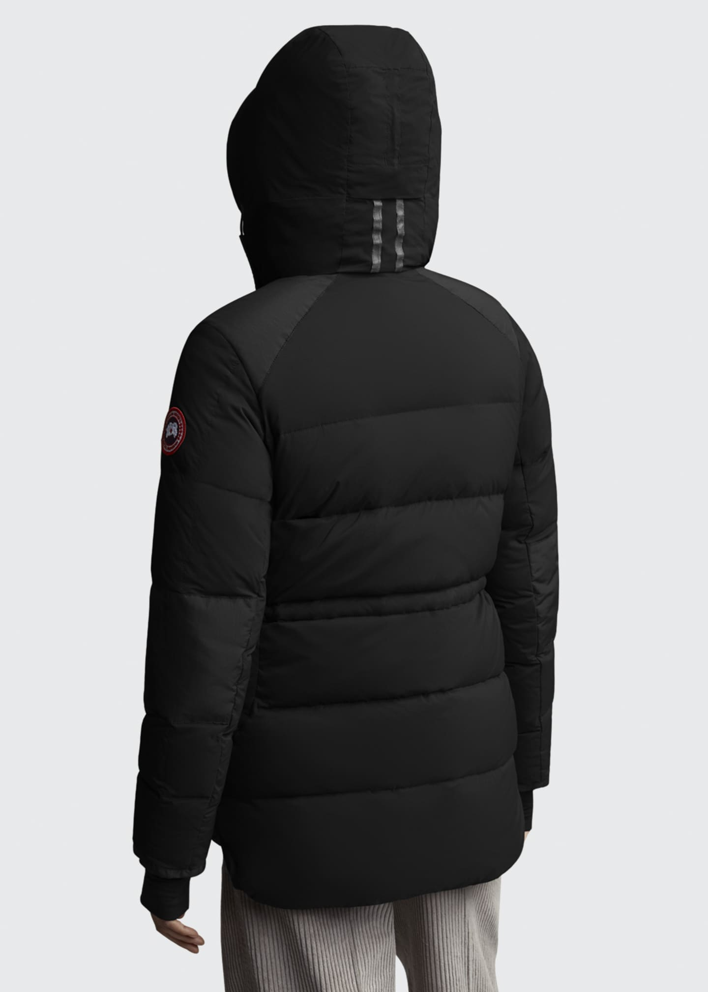 Image 2 of 3: Alliston Hooded Puffer Jacket