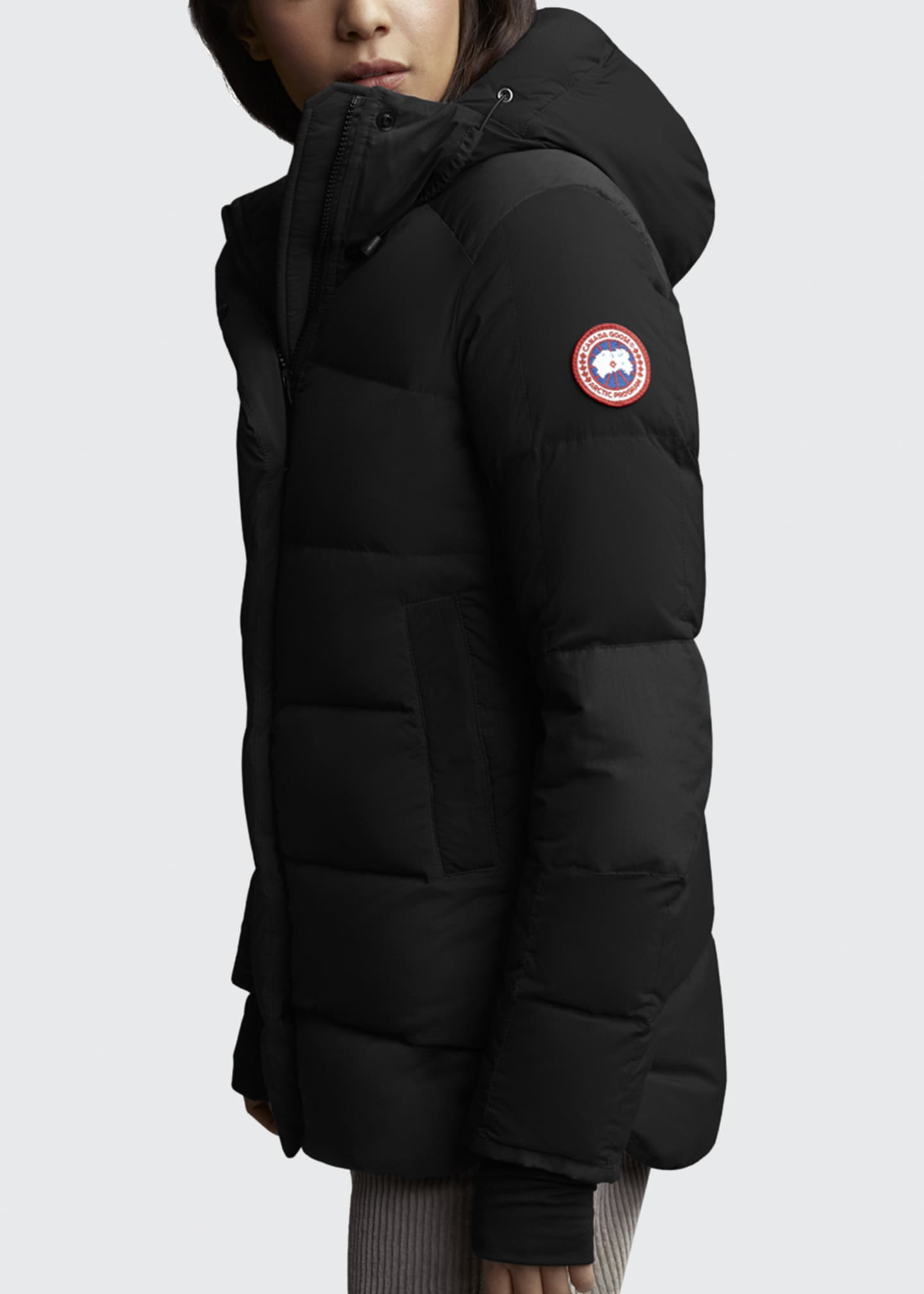 Image 3 of 3: Alliston Hooded Puffer Jacket