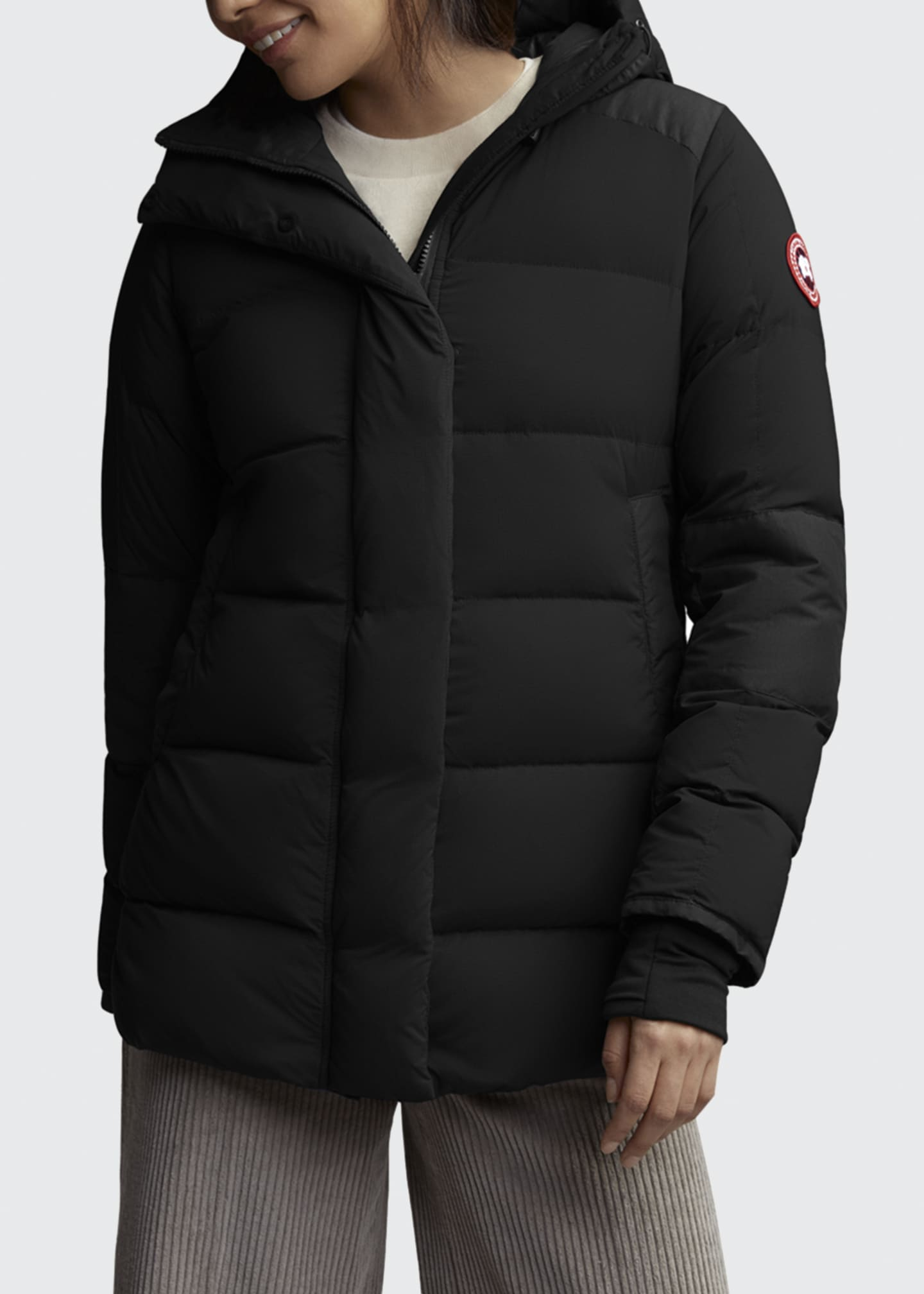 Image 1 of 3: Alliston Hooded Puffer Jacket