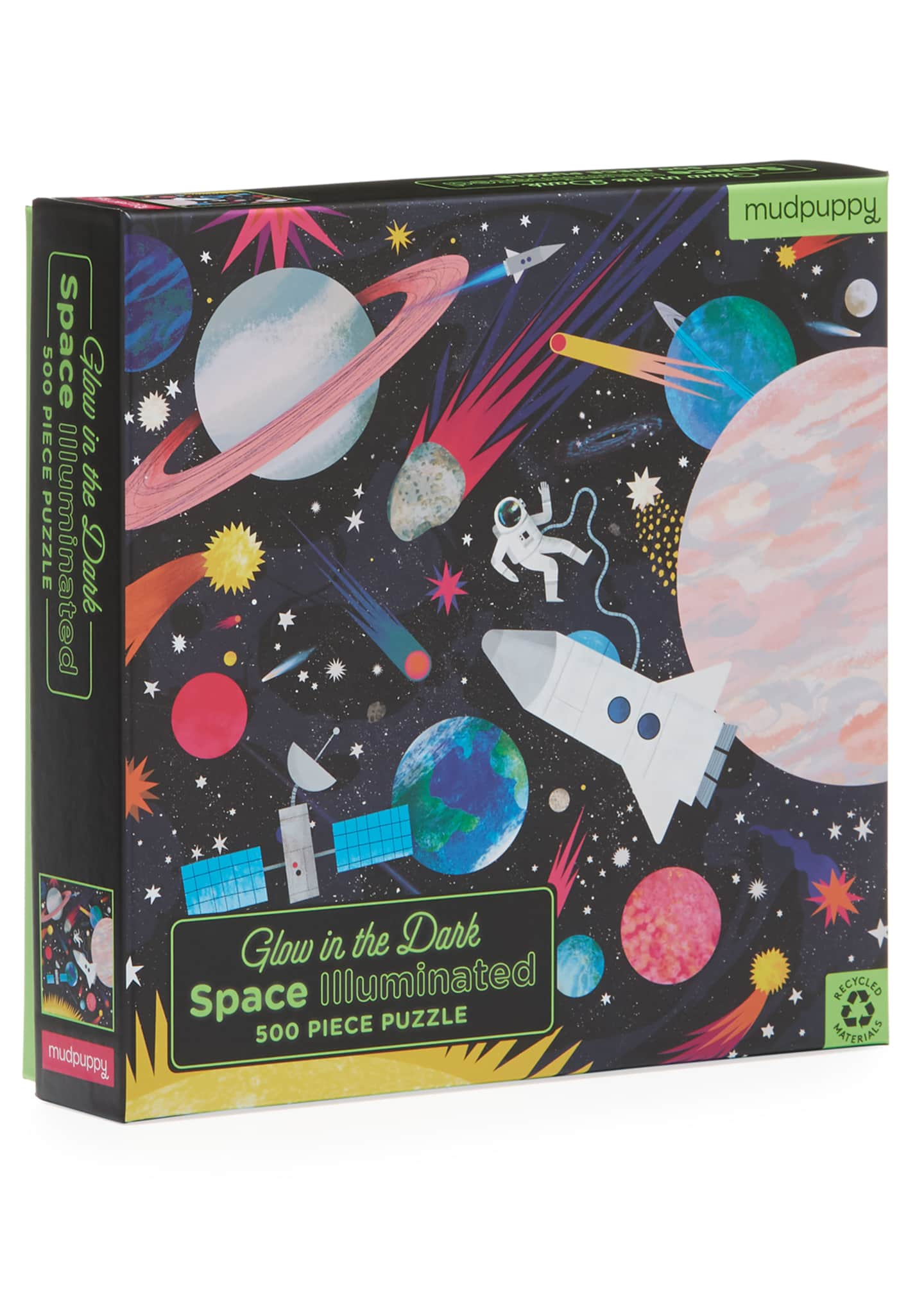 Hachette Book Group Space Illuminated 500-Piece Glow in
