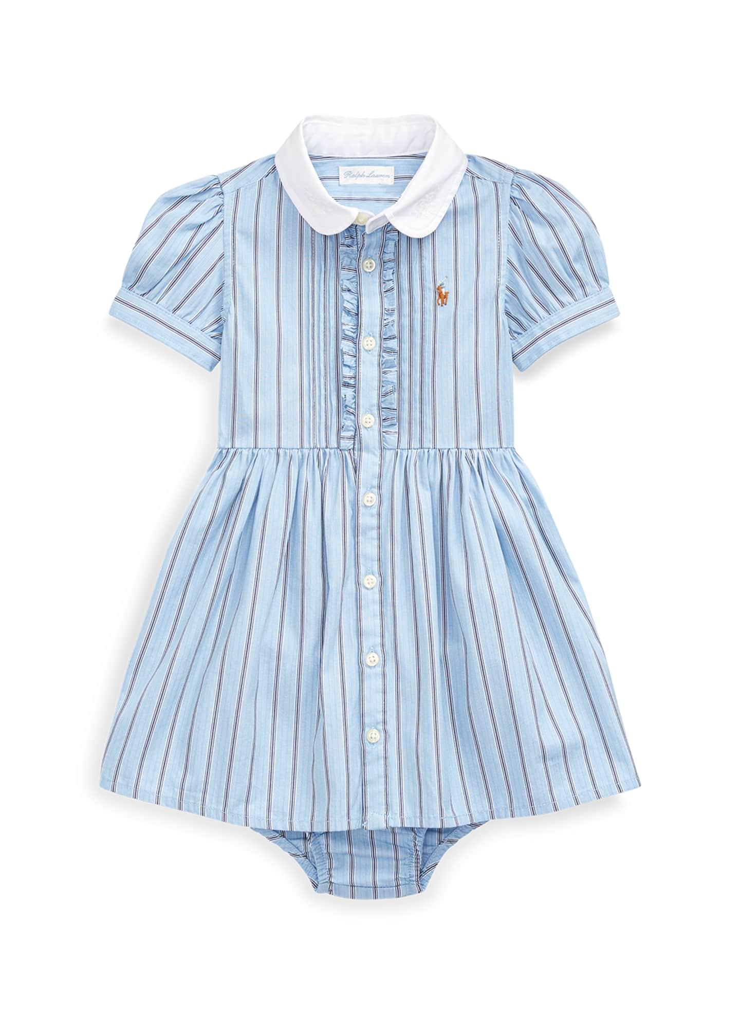 Ralph Lauren Childrenswear Striped Button-Up Dress w/ Bloomers,