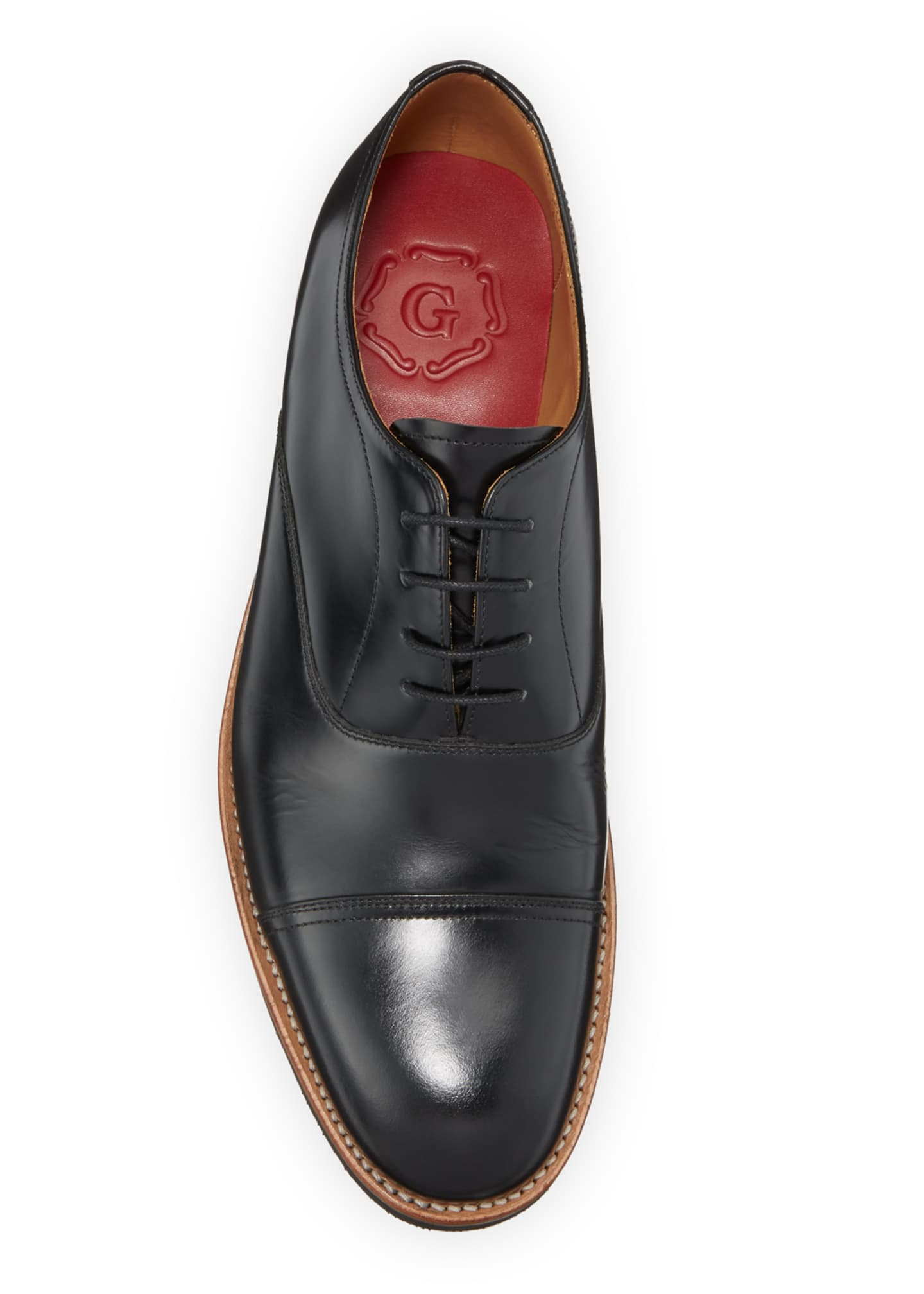 Image 2 of 3: Men's Elliot Leather Oxford Shoes