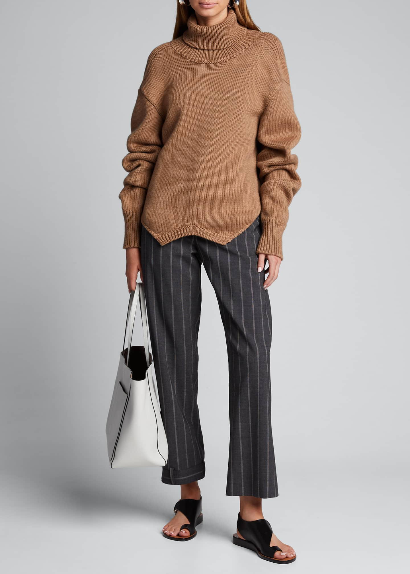 Monse Pinstriped Upside-Down-Leg Pants