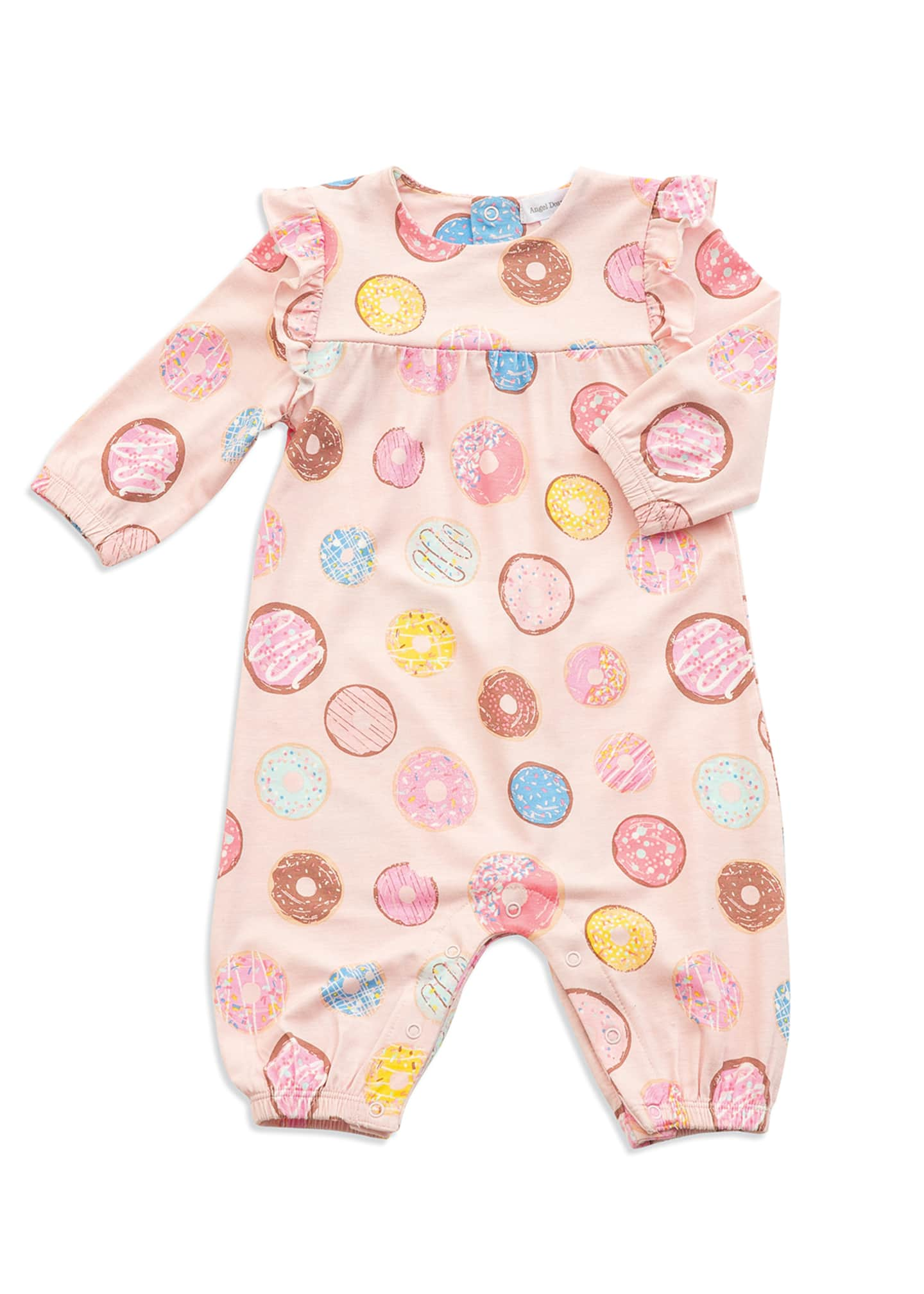 Angel Dear Llama Print Ruffle Trim Coverall, Size