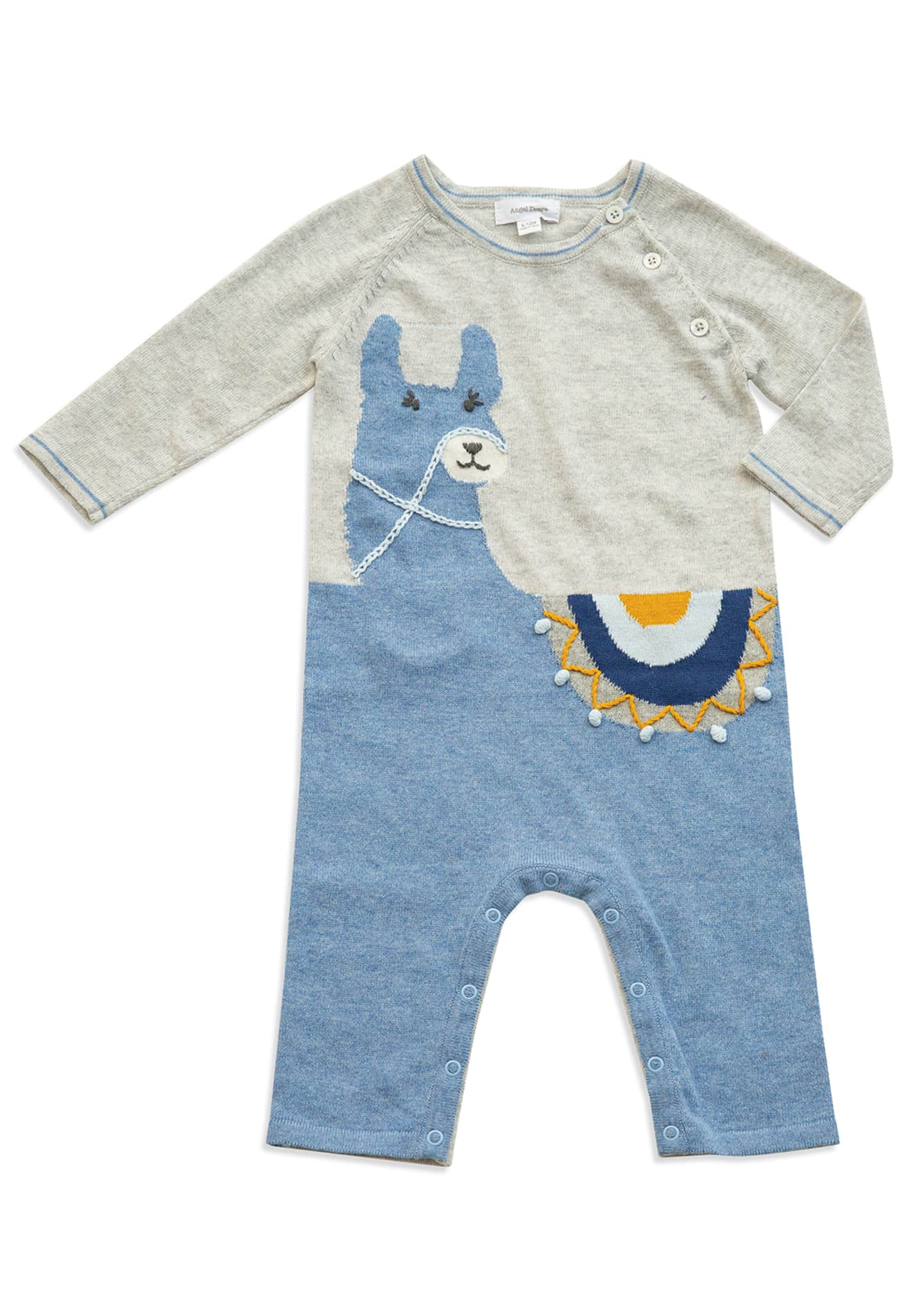 Angel Dear Alpaca Intarsia Cotton Coverall, Size 0-12