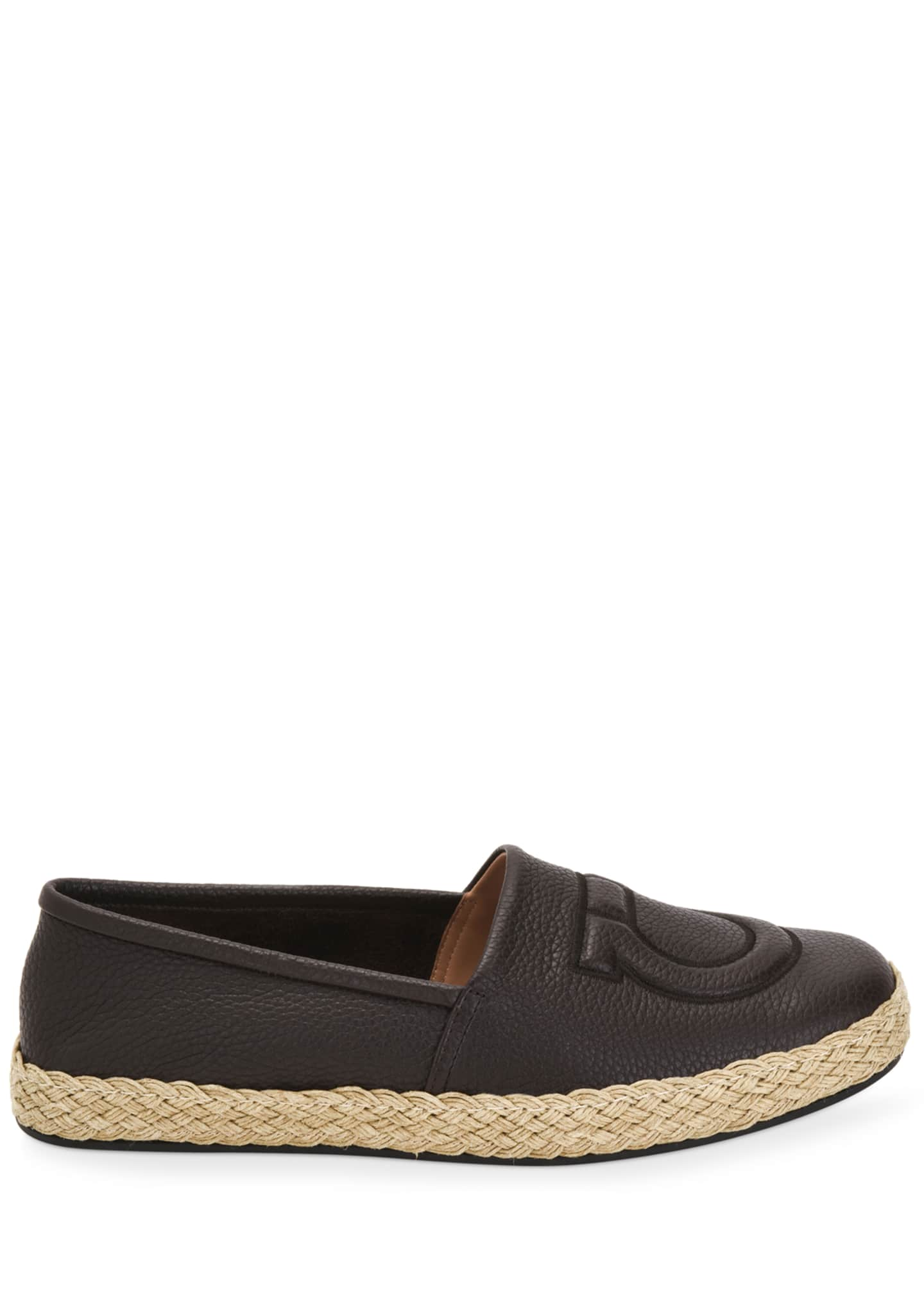 Image 3 of 5: Men's Summer Gancio Leather Espadrilles