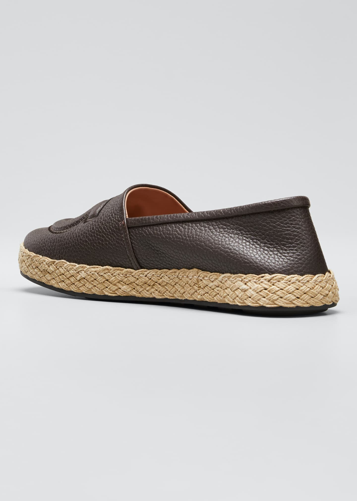 Image 4 of 5: Men's Summer Gancio Leather Espadrilles
