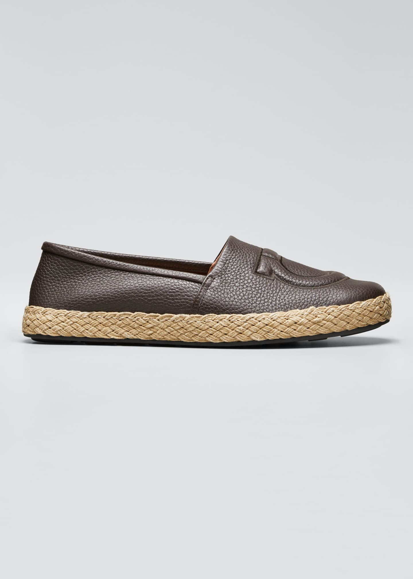 Image 1 of 5: Men's Summer Gancio Leather Espadrilles