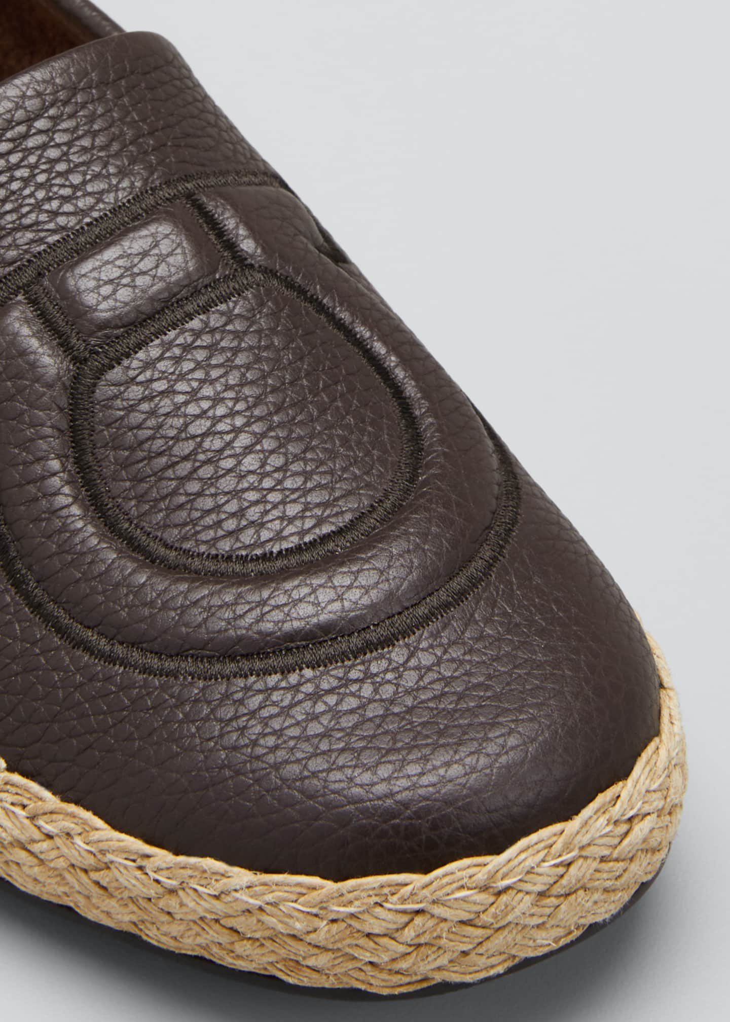Image 5 of 5: Men's Summer Gancio Leather Espadrilles