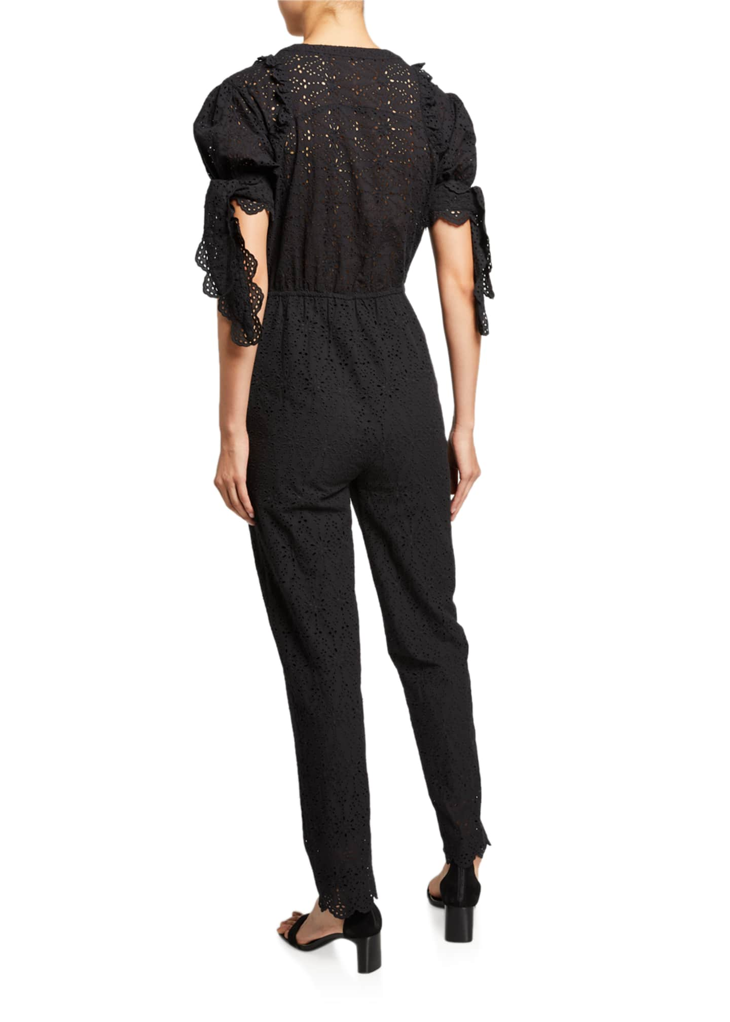 Image 2 of 2: Amelie Embroidered Jumpsuit