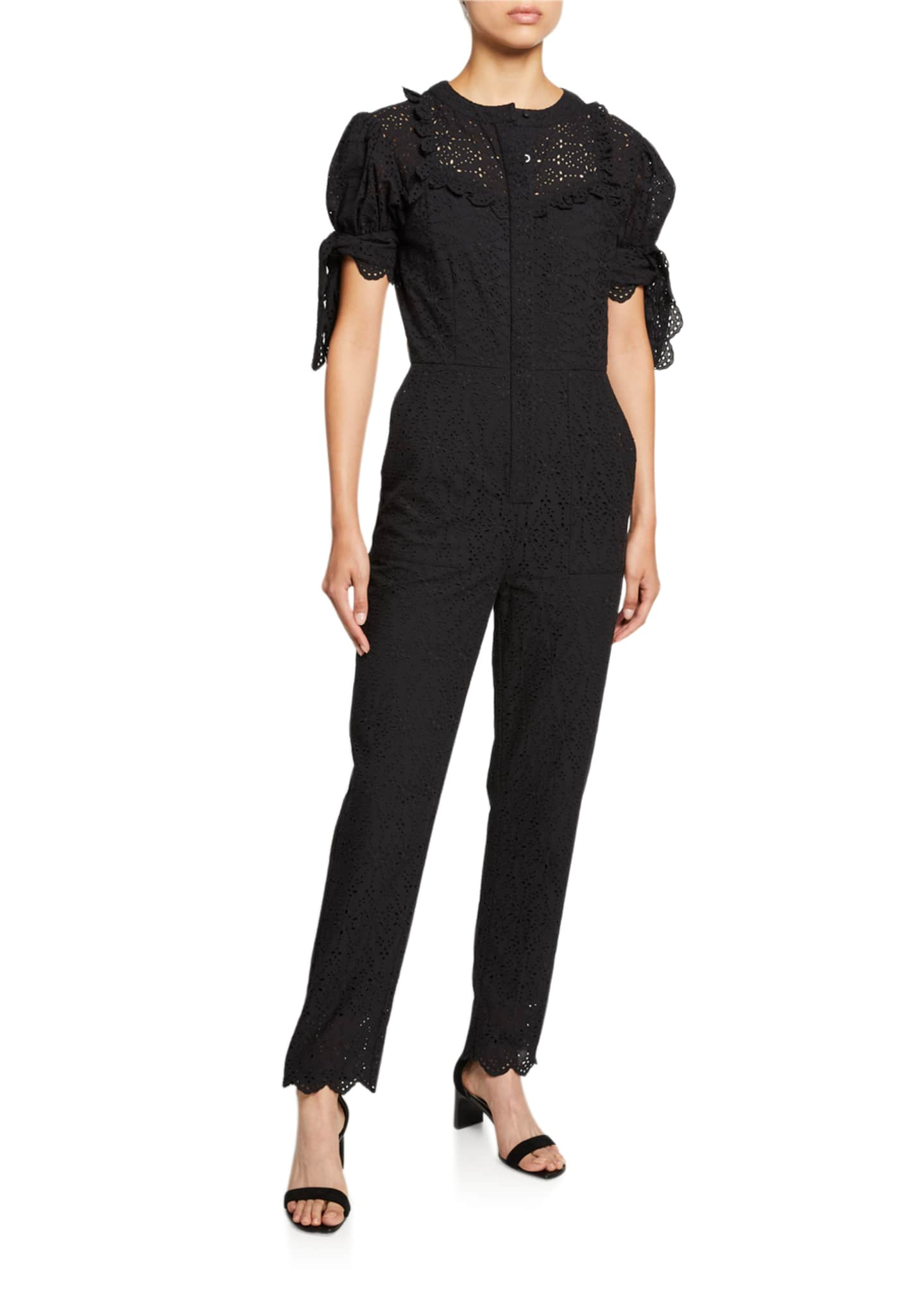 Image 1 of 2: Amelie Embroidered Jumpsuit