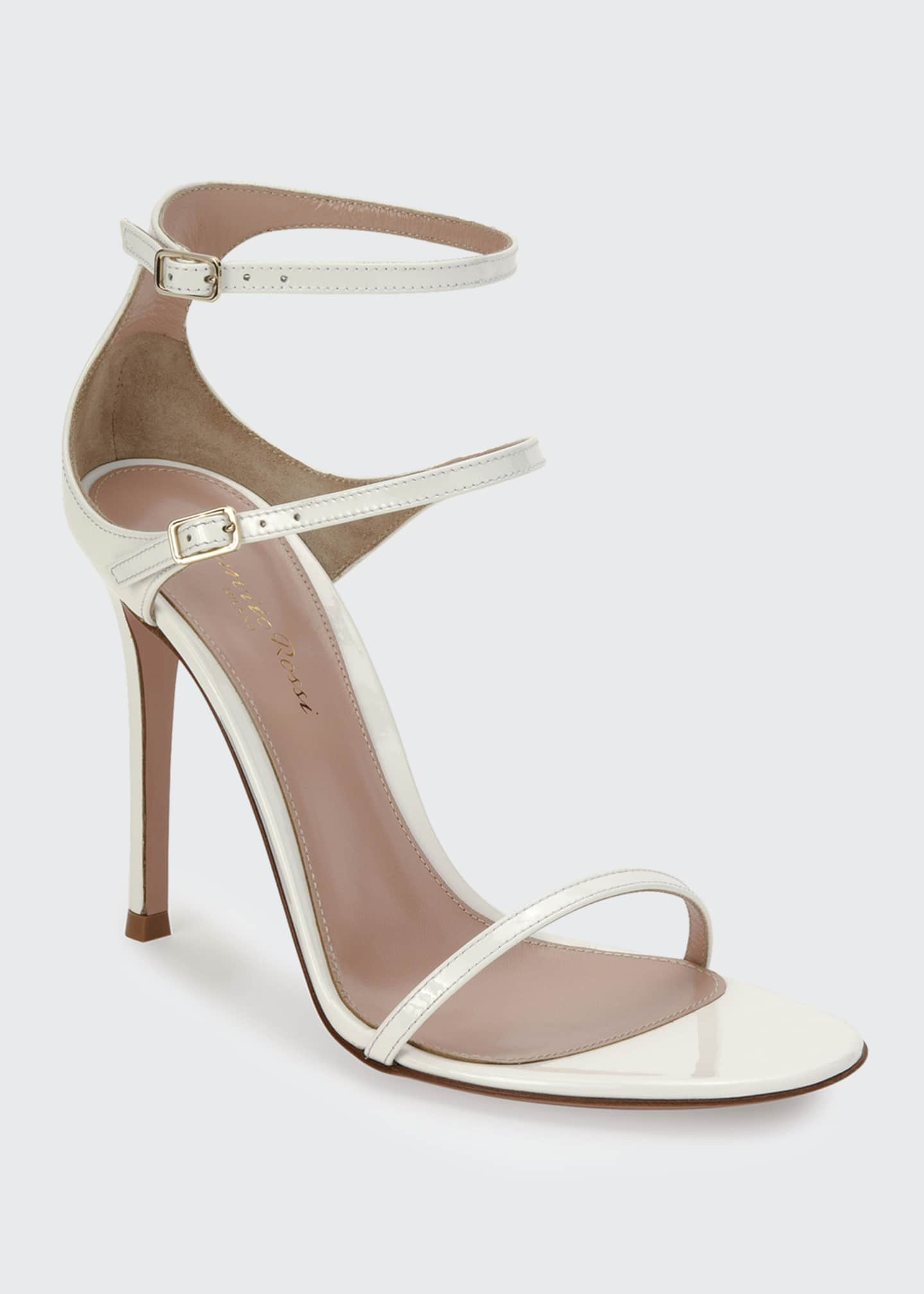 Image 2 of 4: Triple-Strap High-Heel Sandals