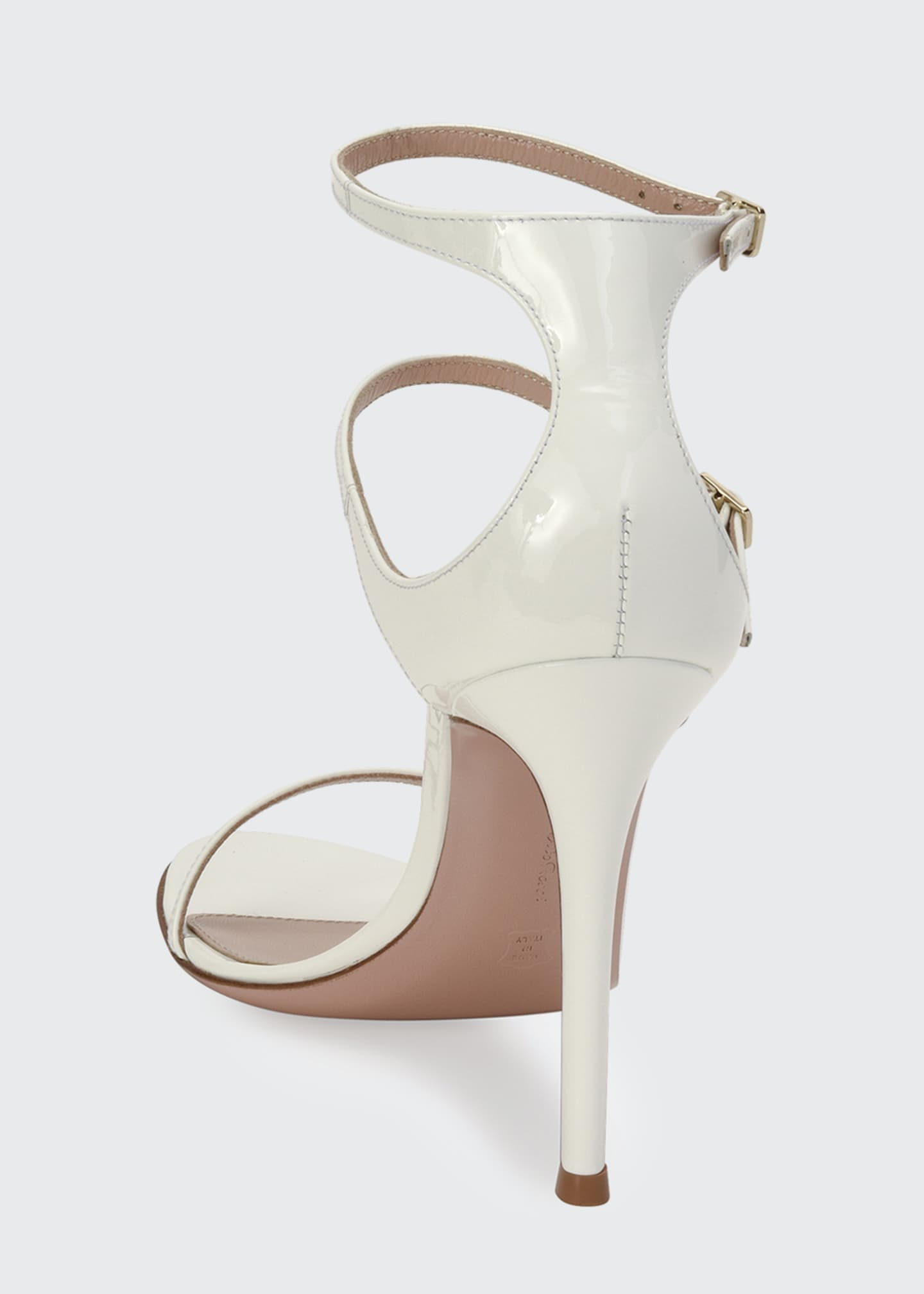 Image 3 of 4: Triple-Strap High-Heel Sandals