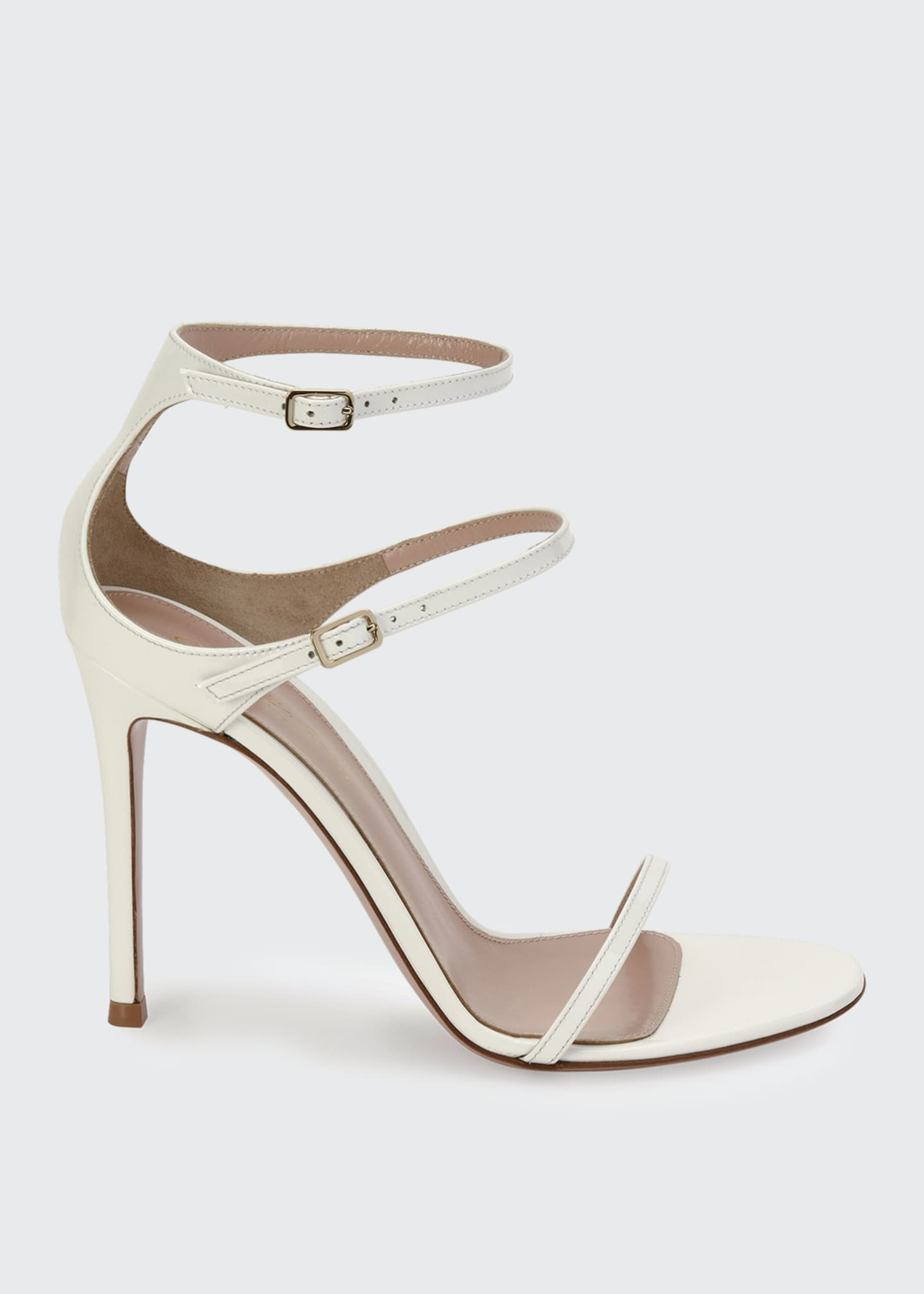 Image 1 of 4: Triple-Strap High-Heel Sandals