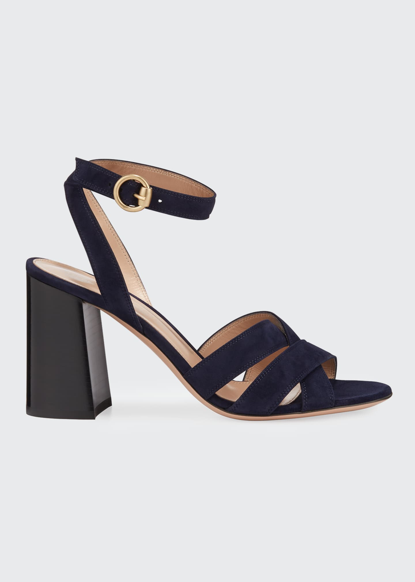 Image 1 of 3: Crisscross Chunky Ankle-Wrap Sandals