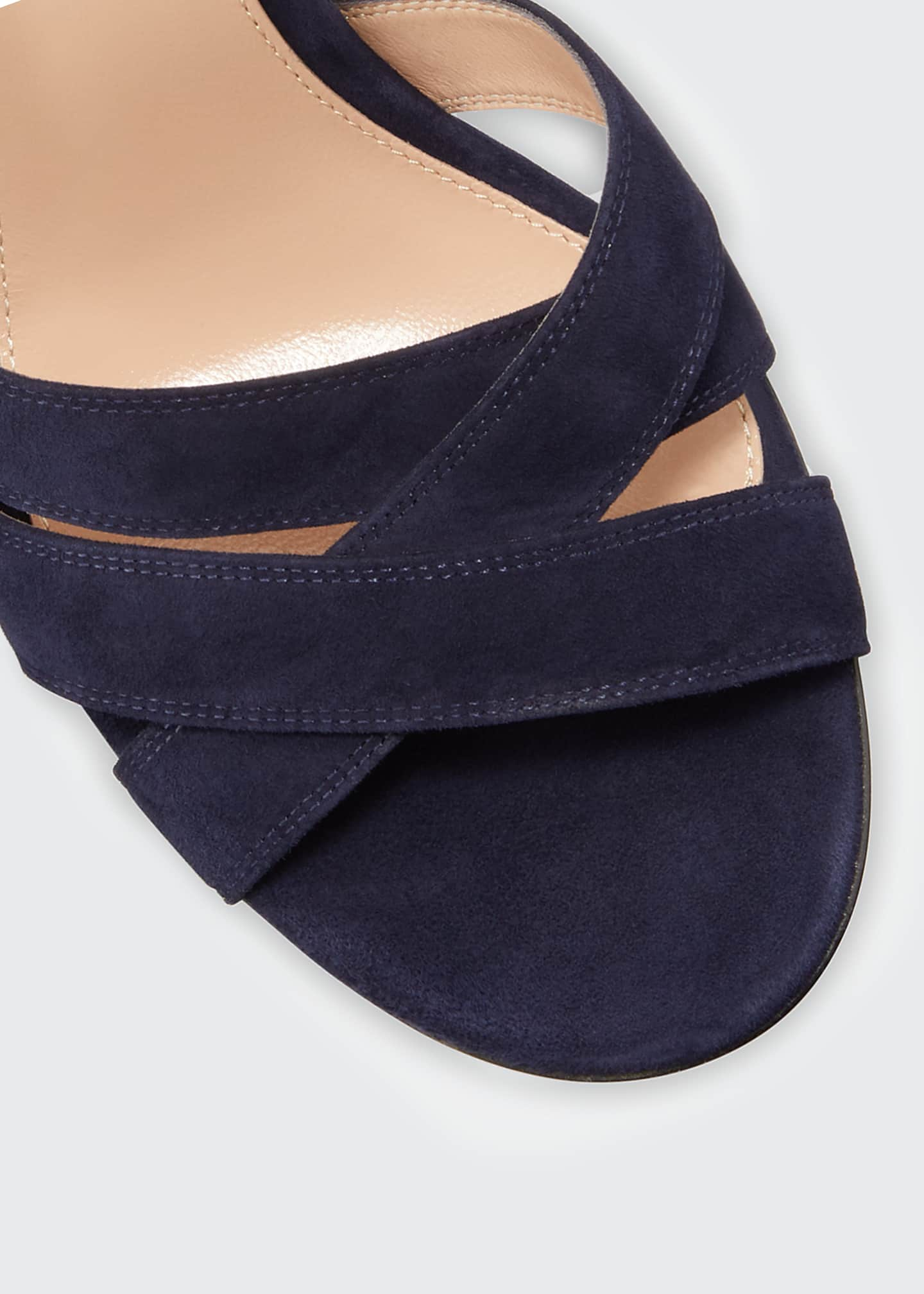 Image 3 of 3: Crisscross Chunky Ankle-Wrap Sandals