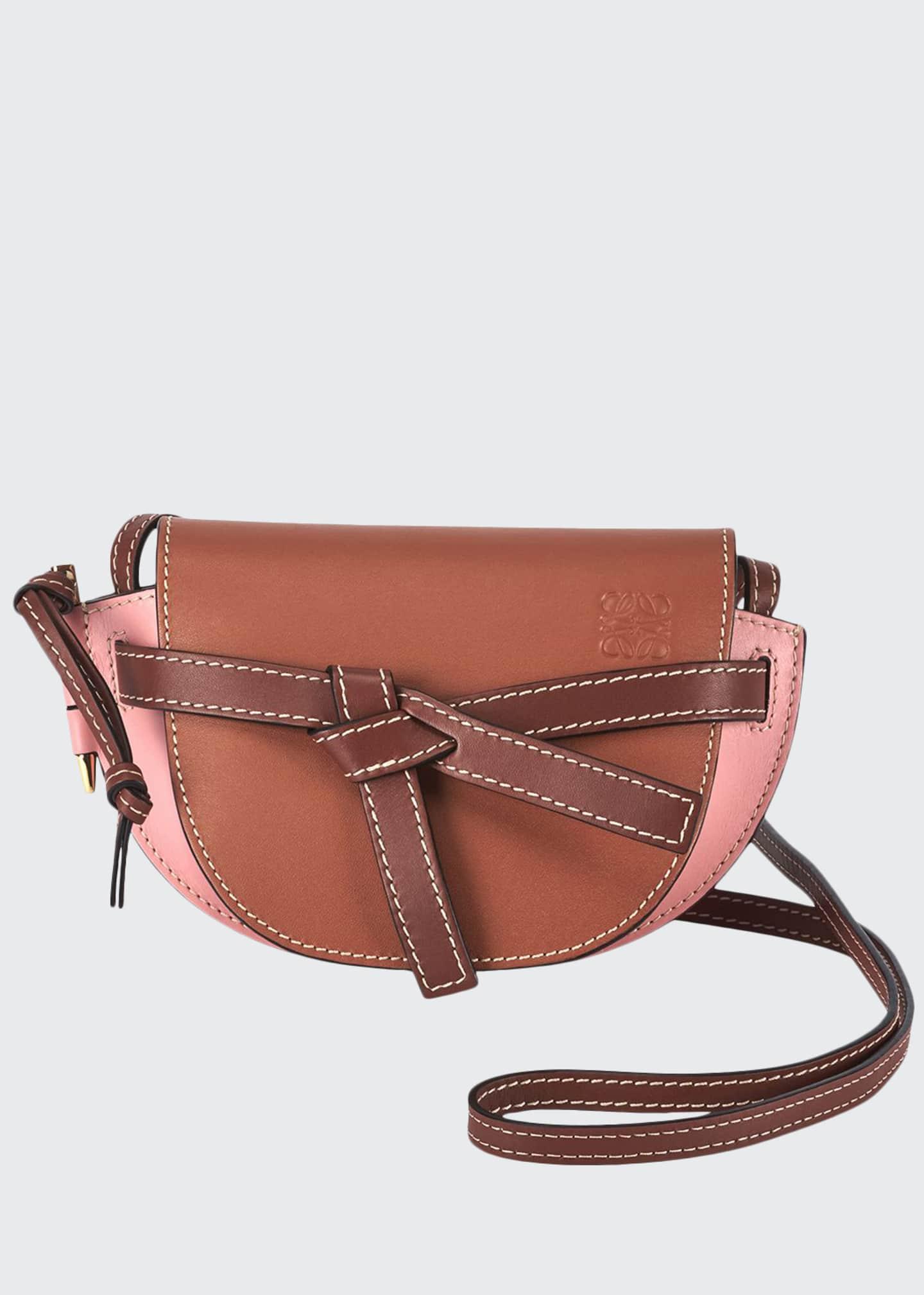 Loewe Gate Two-Tone Leather Shoulder Bag