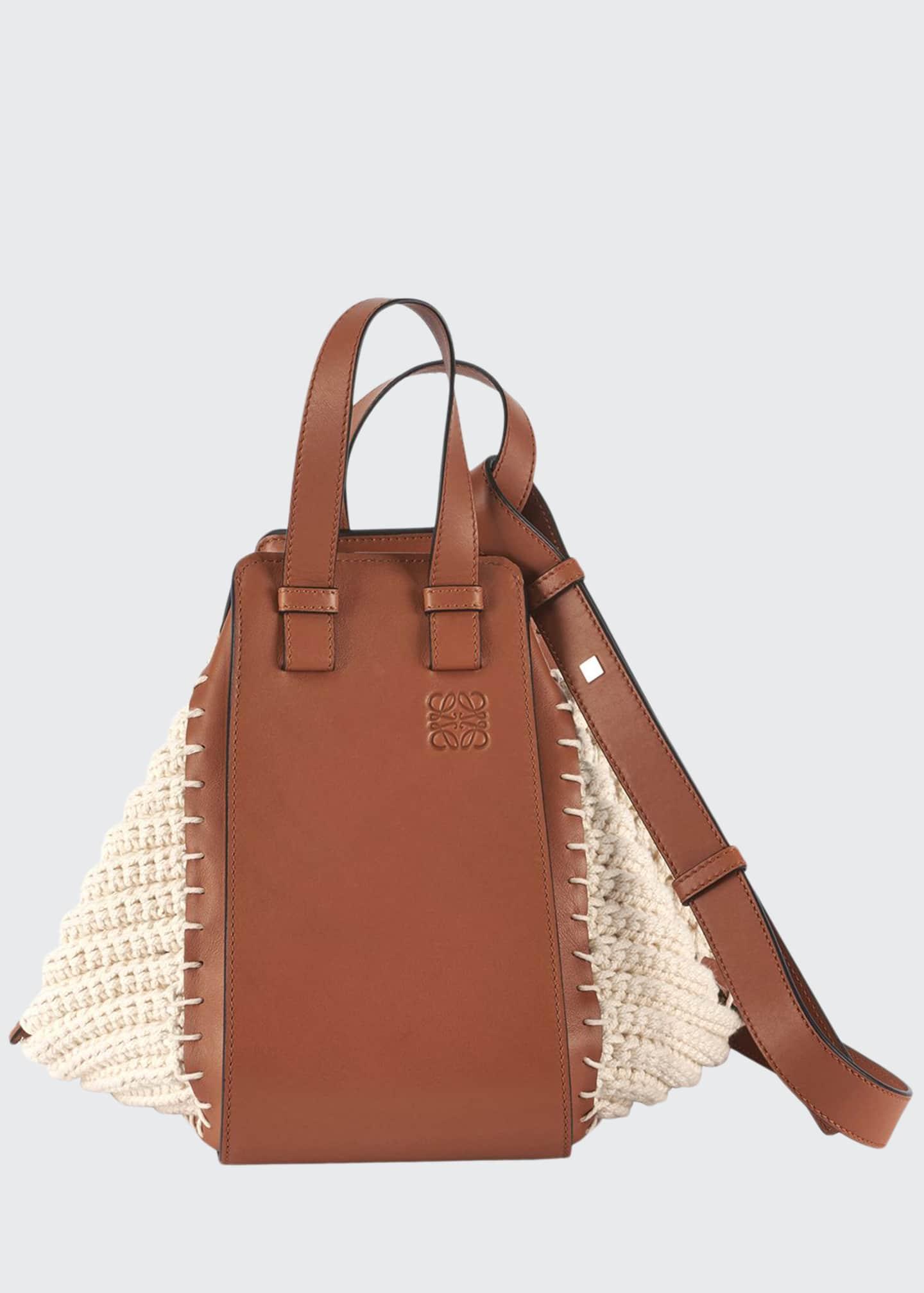 Loewe Hammock Cotton Knit Shoulder Bag