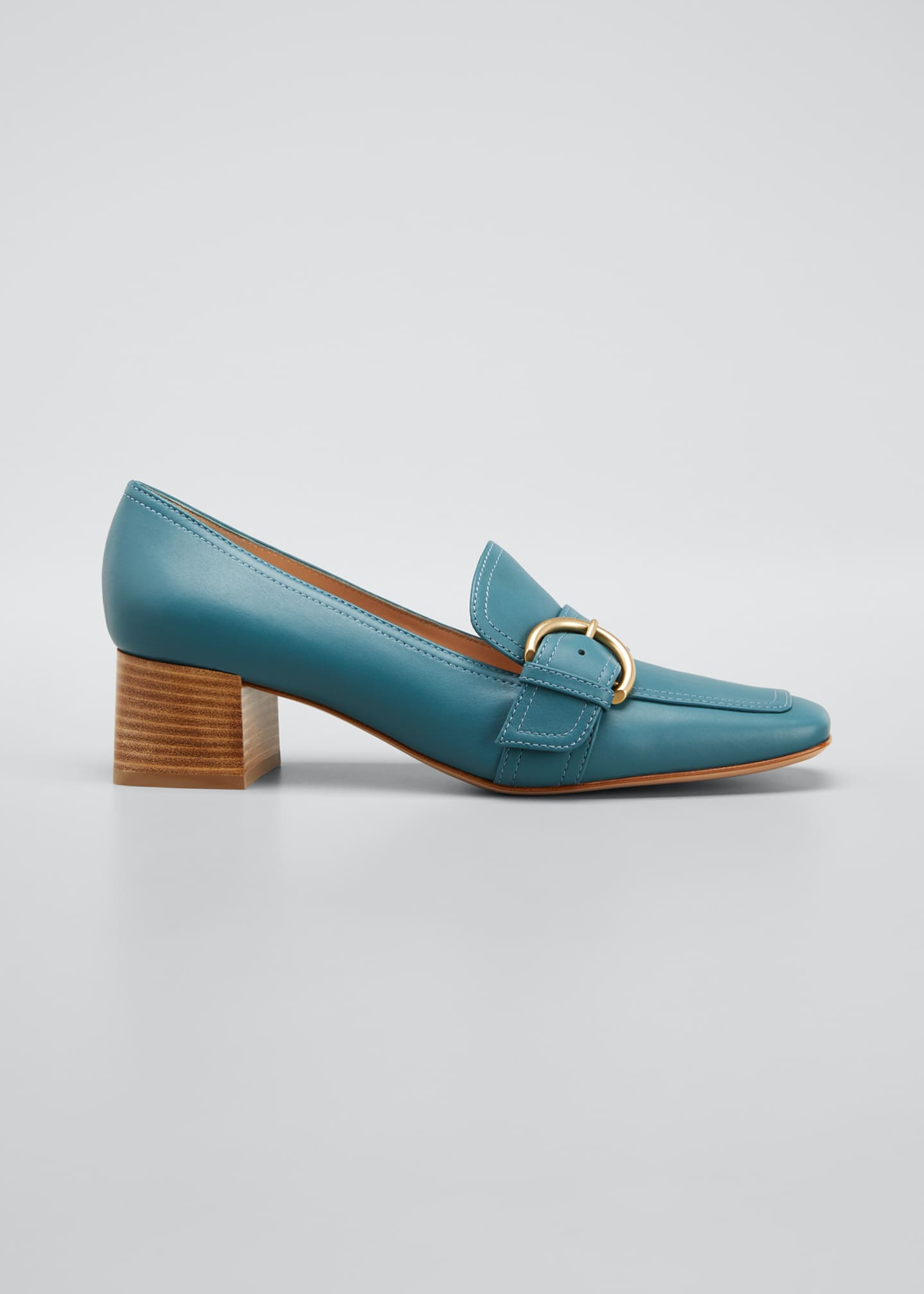 Image 1 of 5: 45 mm Square-Toe Leather Loafers