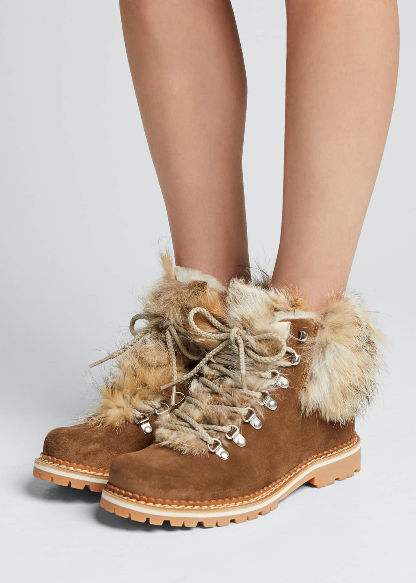 Image 2 of 5: Camelia Boots with Fox Fur