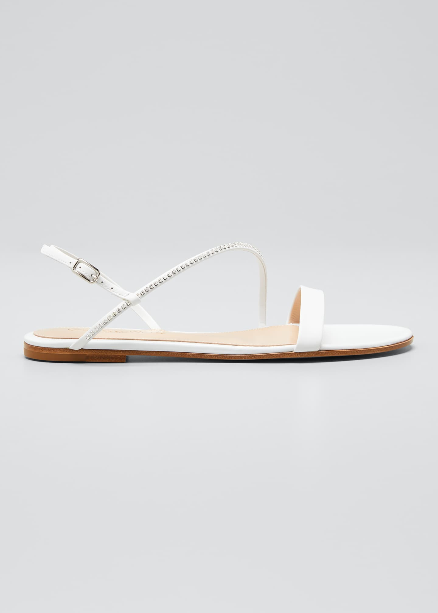 Gianvito Rossi Asymmetric Leather Flat Sandals