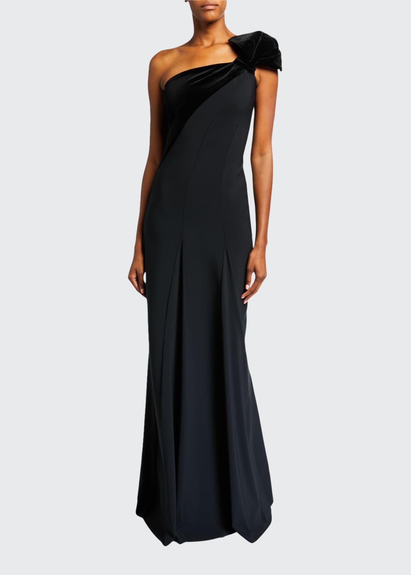 Chiara Boni La Petite Robe One-Shoulder Long Gown
