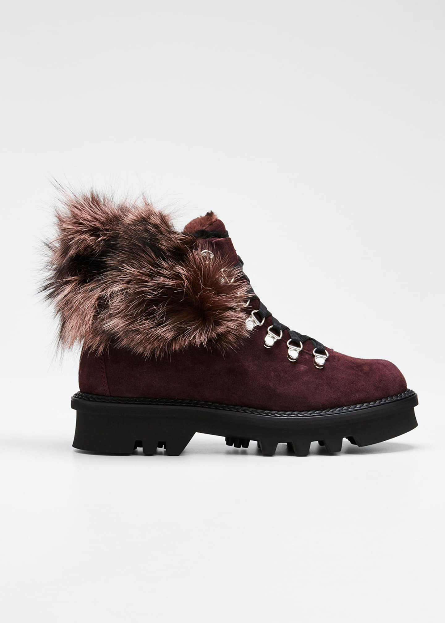 Montelliana 1965 Aurora Suede Boots with Fox Fur