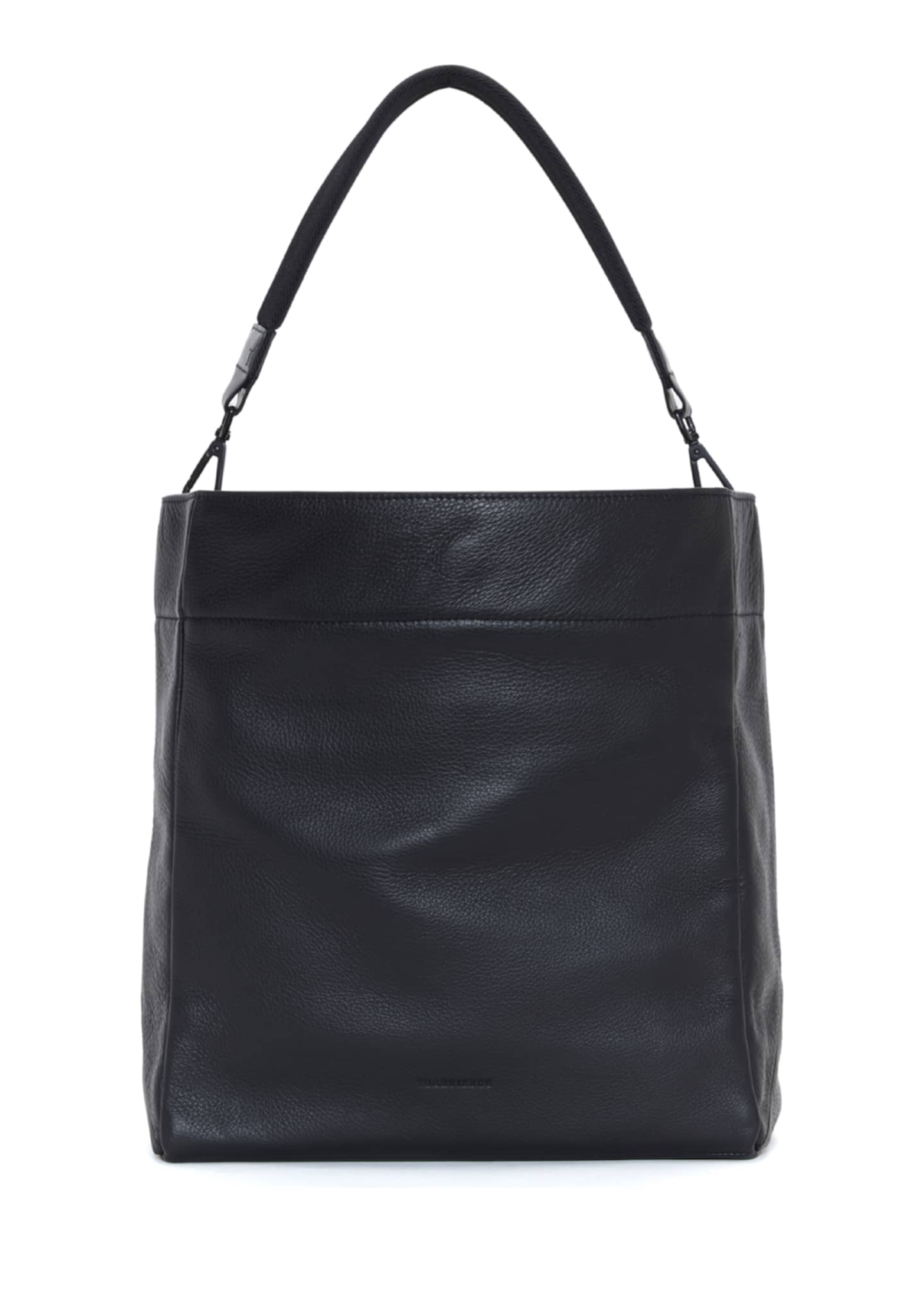 Image 2 of 5: Swing Leather Drawstring Bucket Bag
