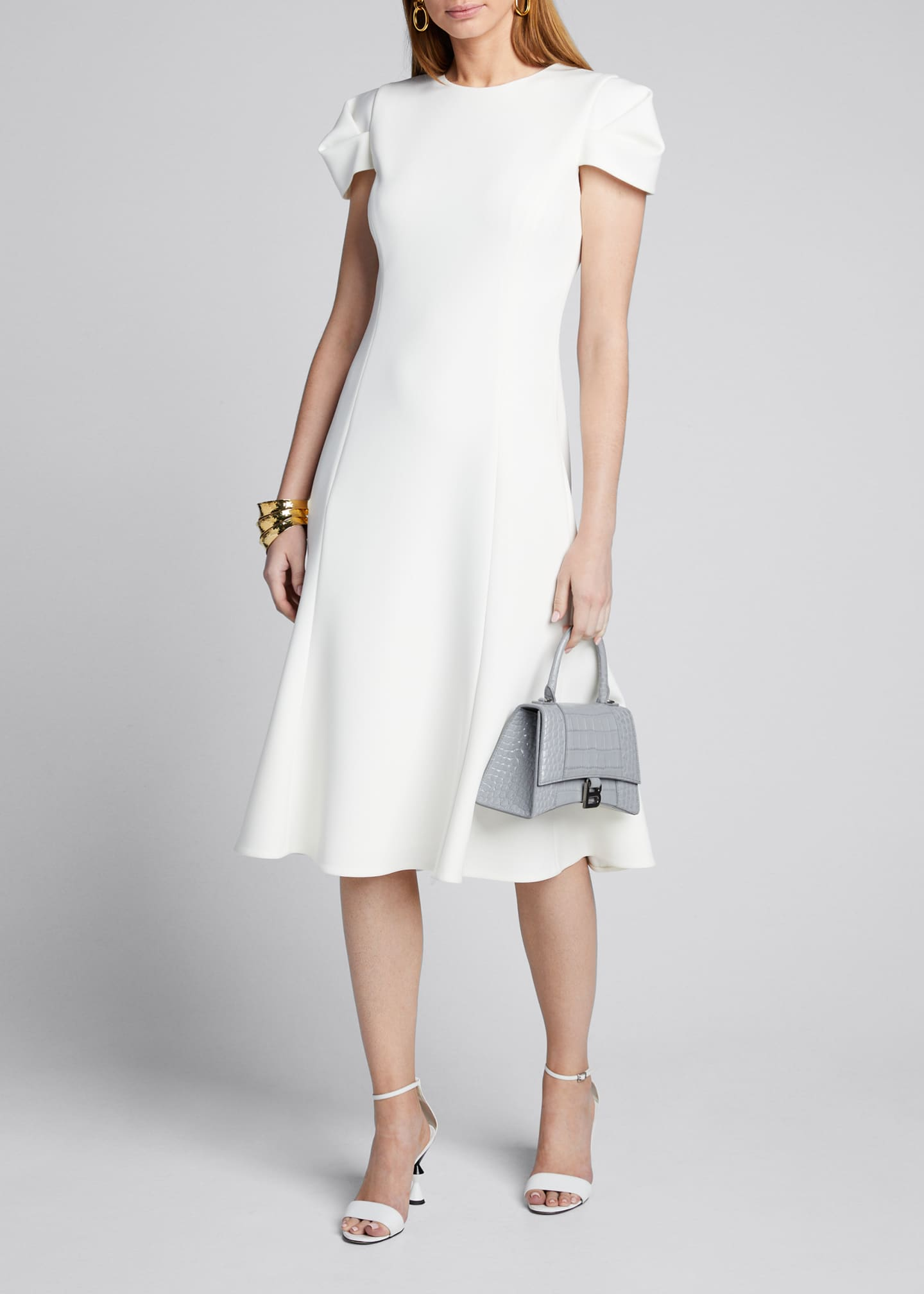 Jason Wu Collection Compact Crepe Fit & Flare