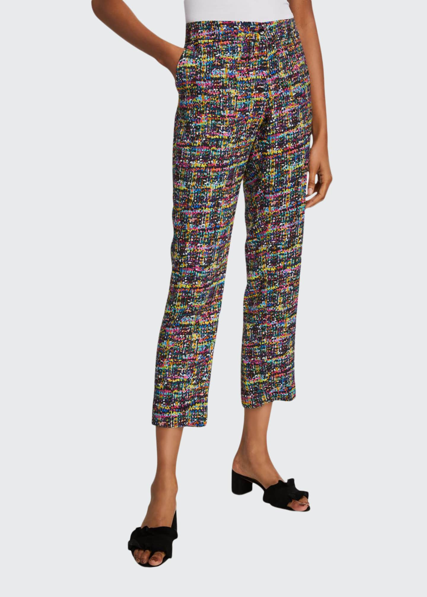 Etro Tweed Print Cuffed Pants