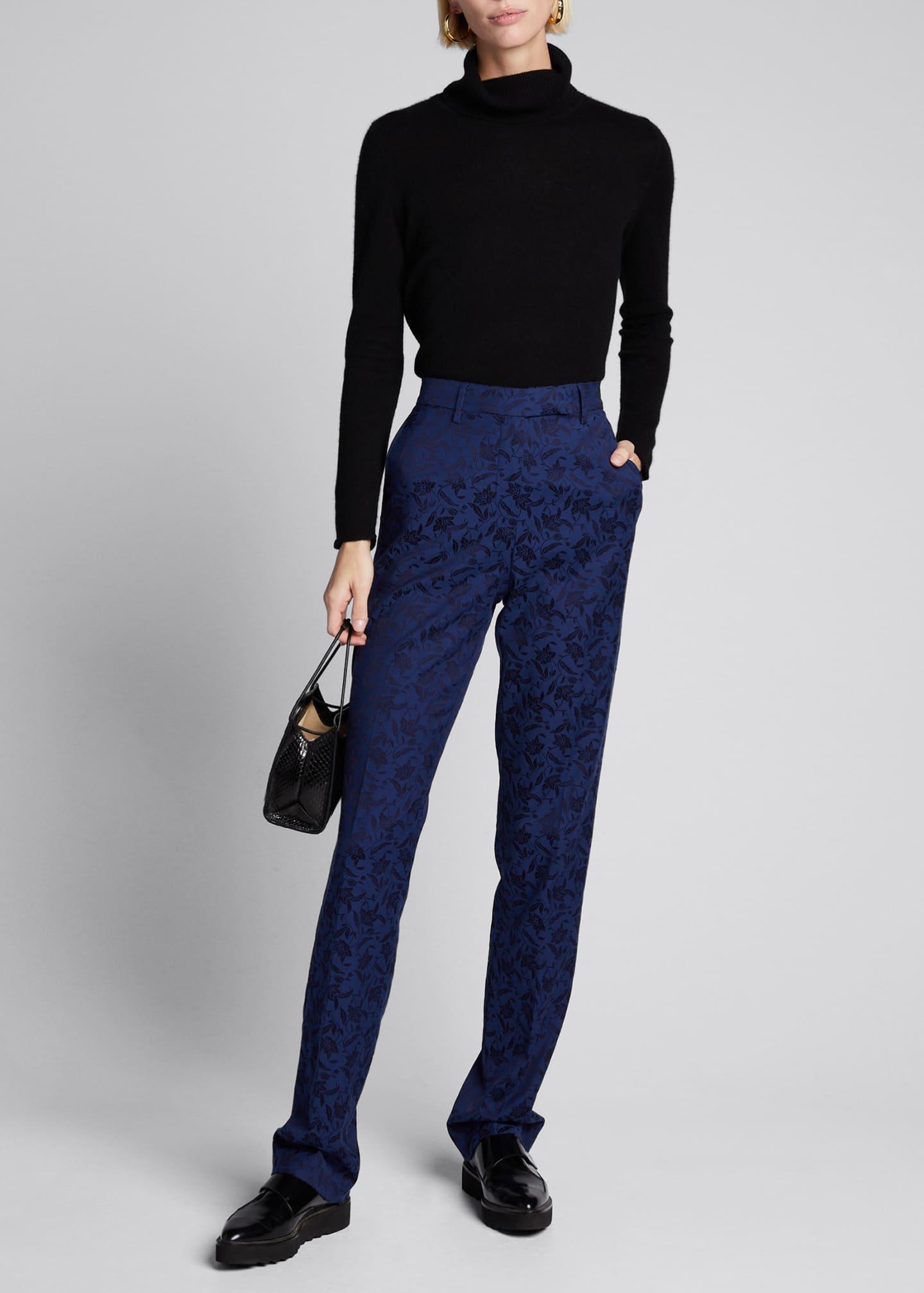 Etro Brocade Straight-Leg Trousers
