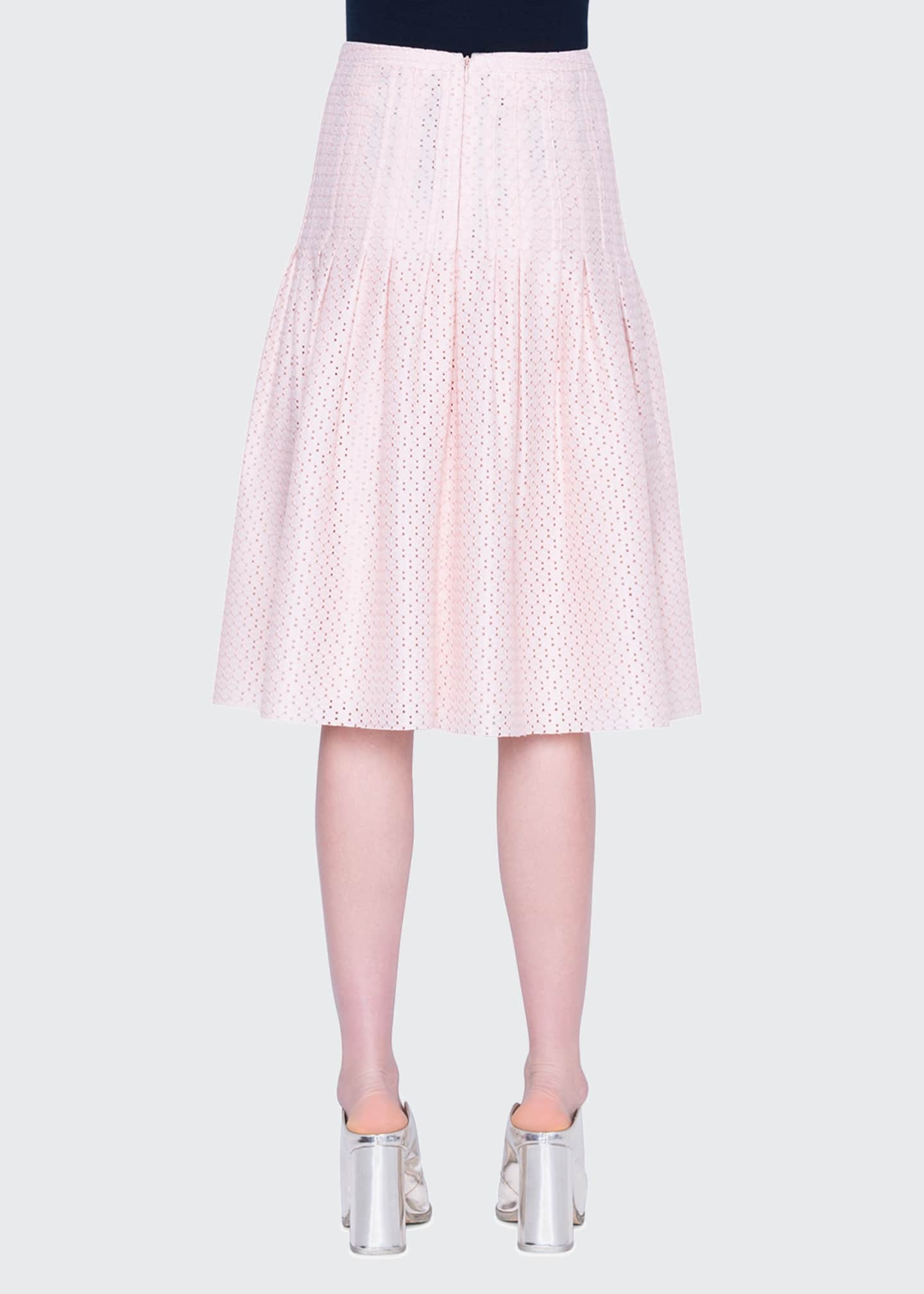 Image 2 of 2: Tiered Eyelet Lace Midi Skirt