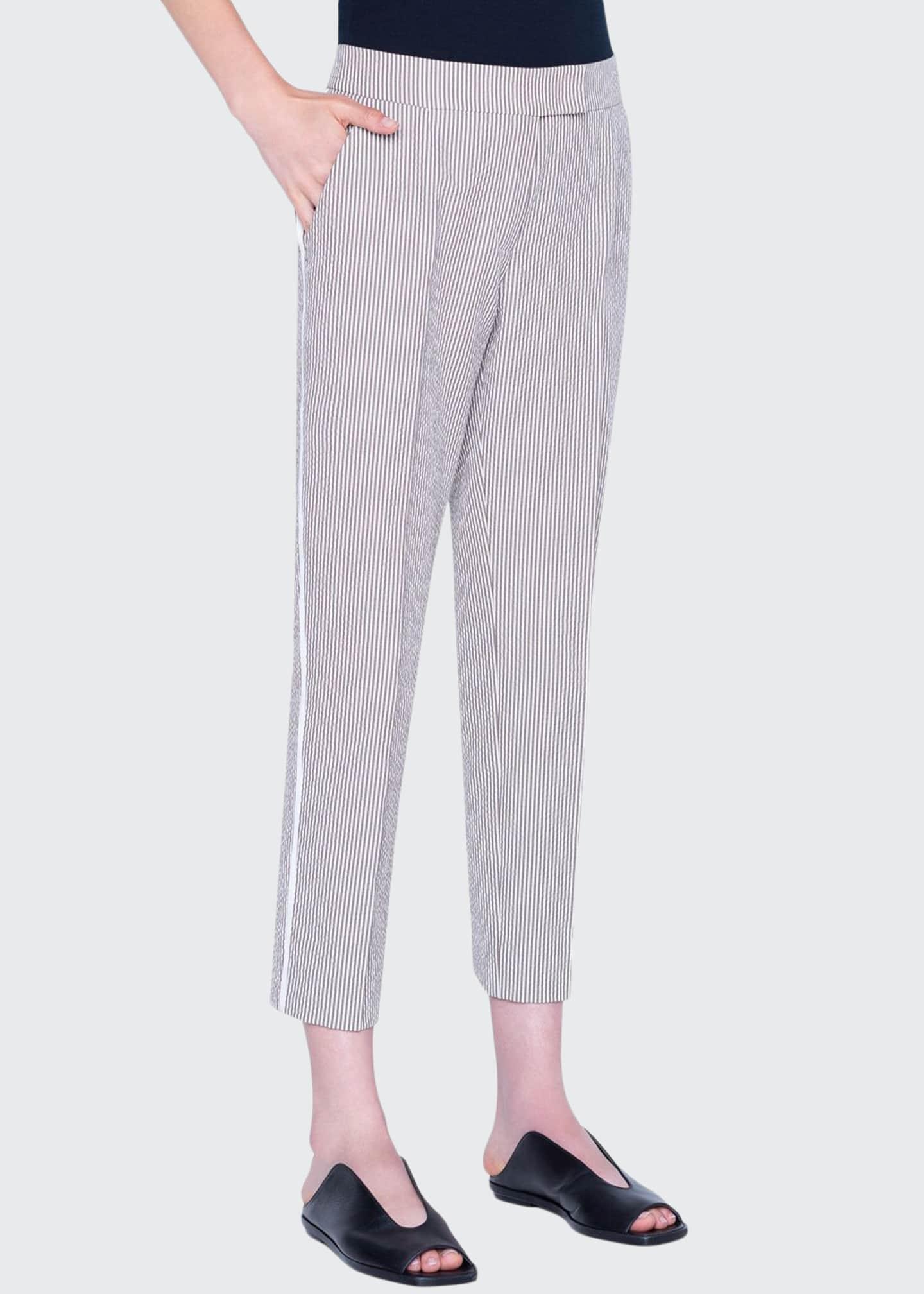 Akris punto Frankie Seersucker Cotton Pants