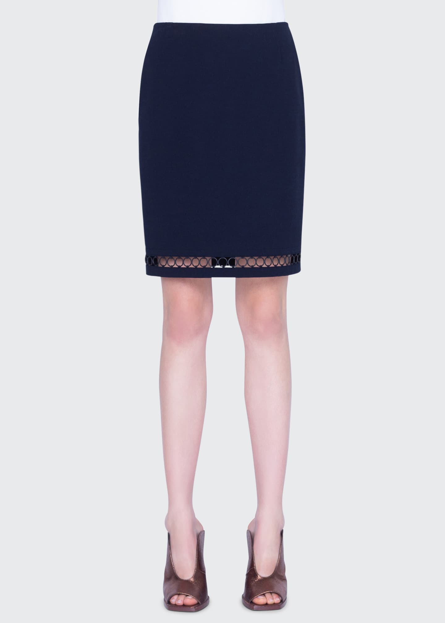 Image 1 of 2: Jersey Mini Skirt with Chain Hem