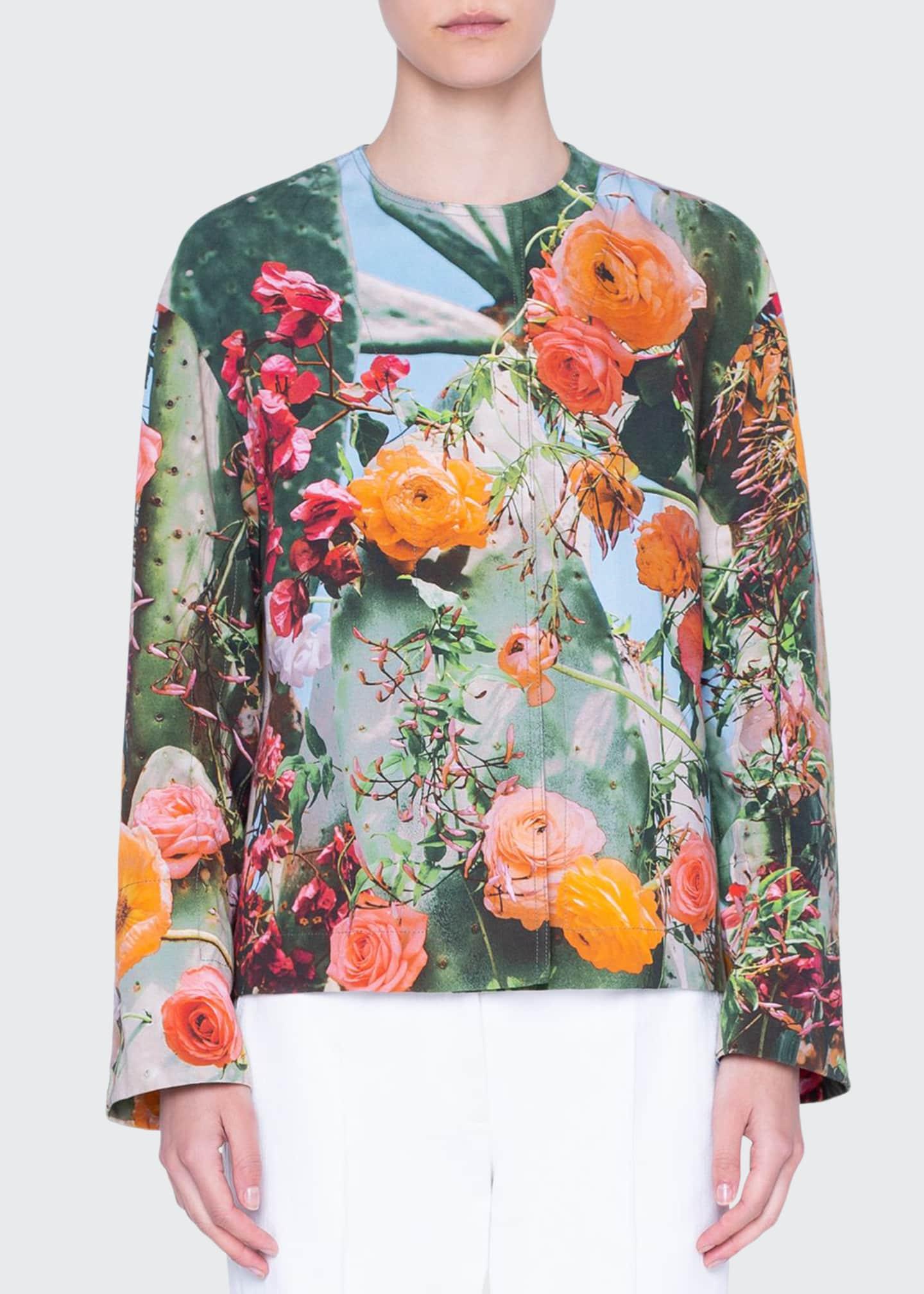 Akris punto Cactus Blossom Gabardine Cotton Jacket