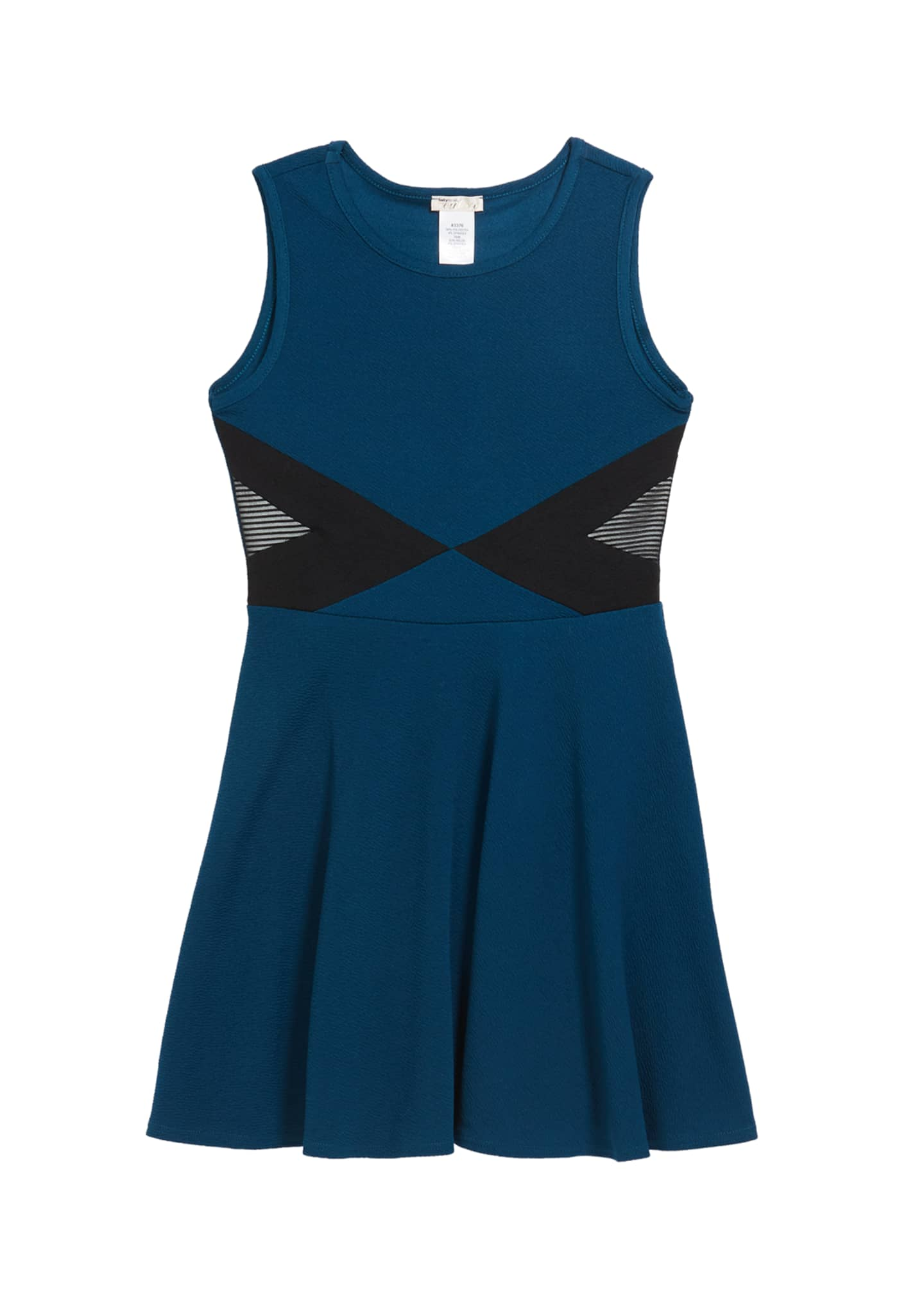 Sally Miller Girl's The Jada Mesh Trim Dress,