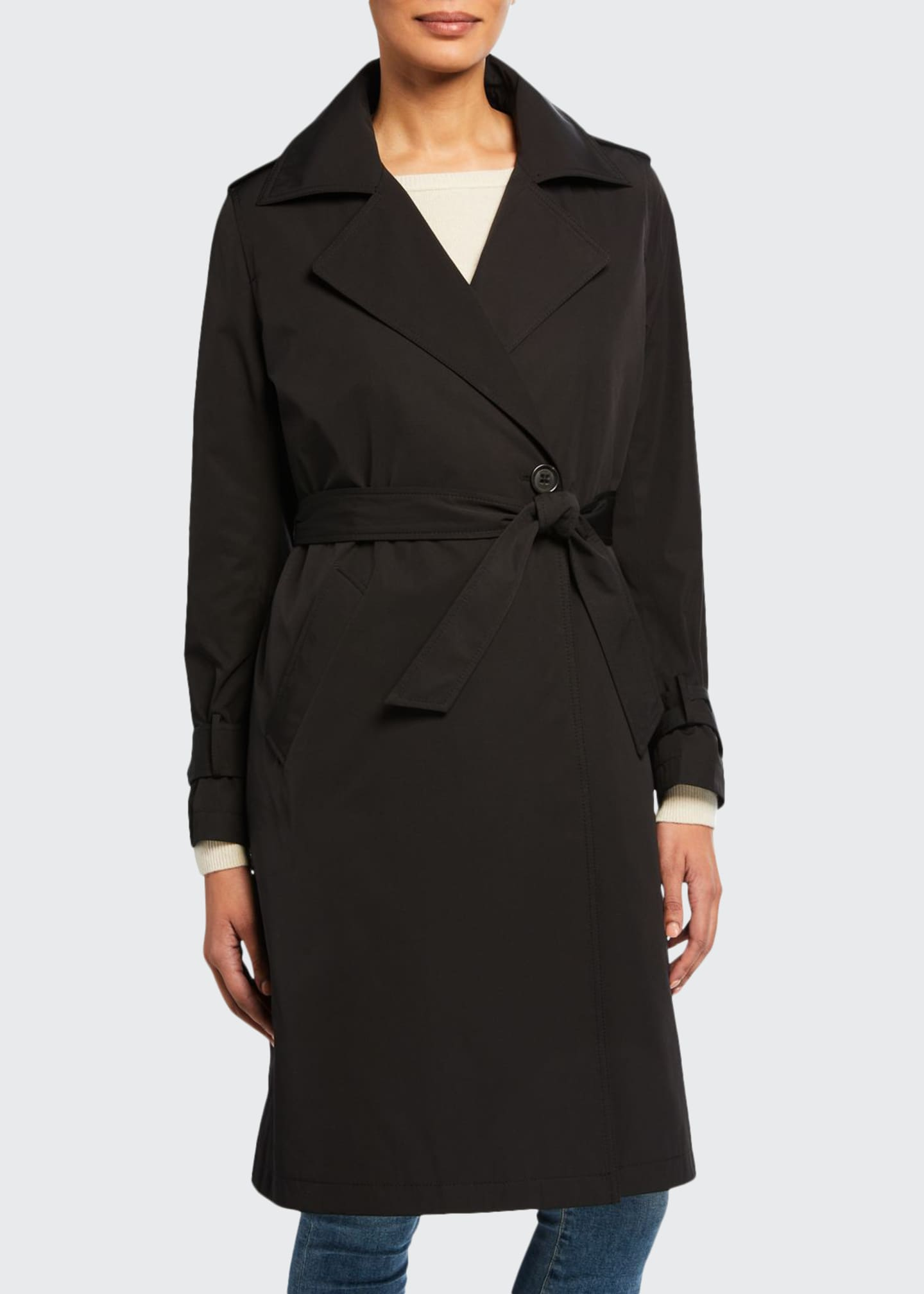Jane Post Minimalist Trench Coat w/ Detachable Liner