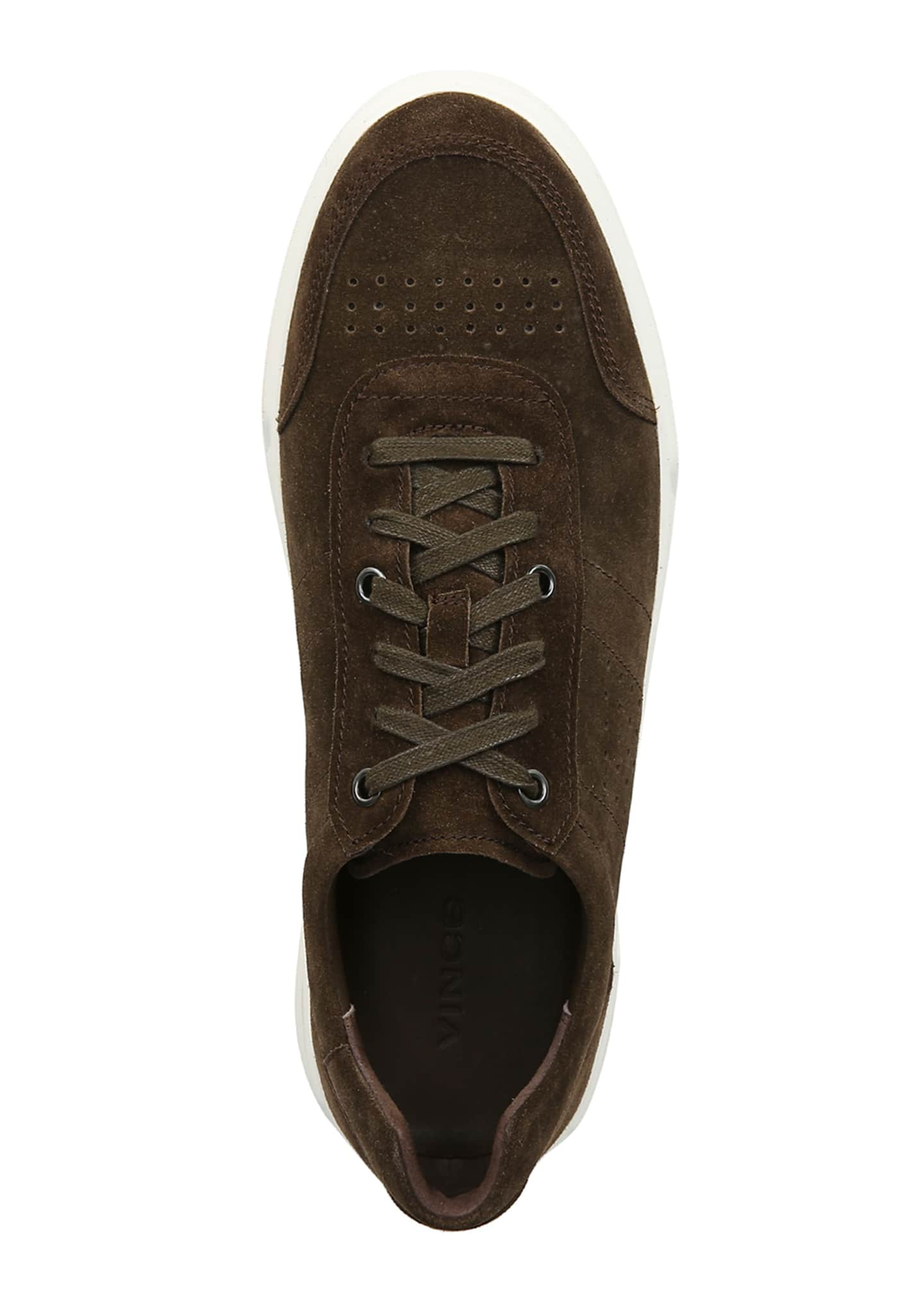 Image 2 of 4: Men's Barnett Perforated Suede Low-Top Sneakers