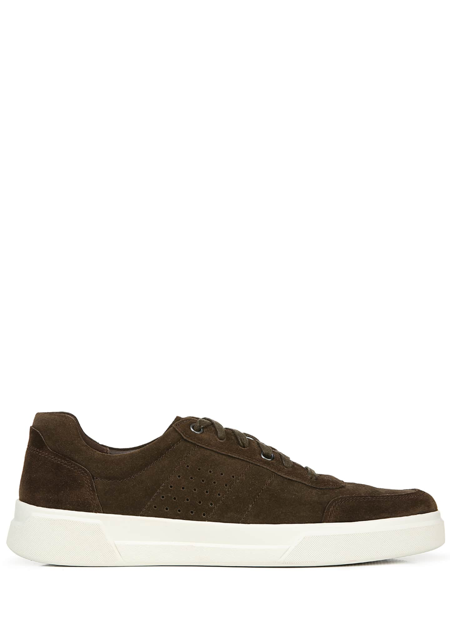 Image 3 of 4: Men's Barnett Perforated Suede Low-Top Sneakers