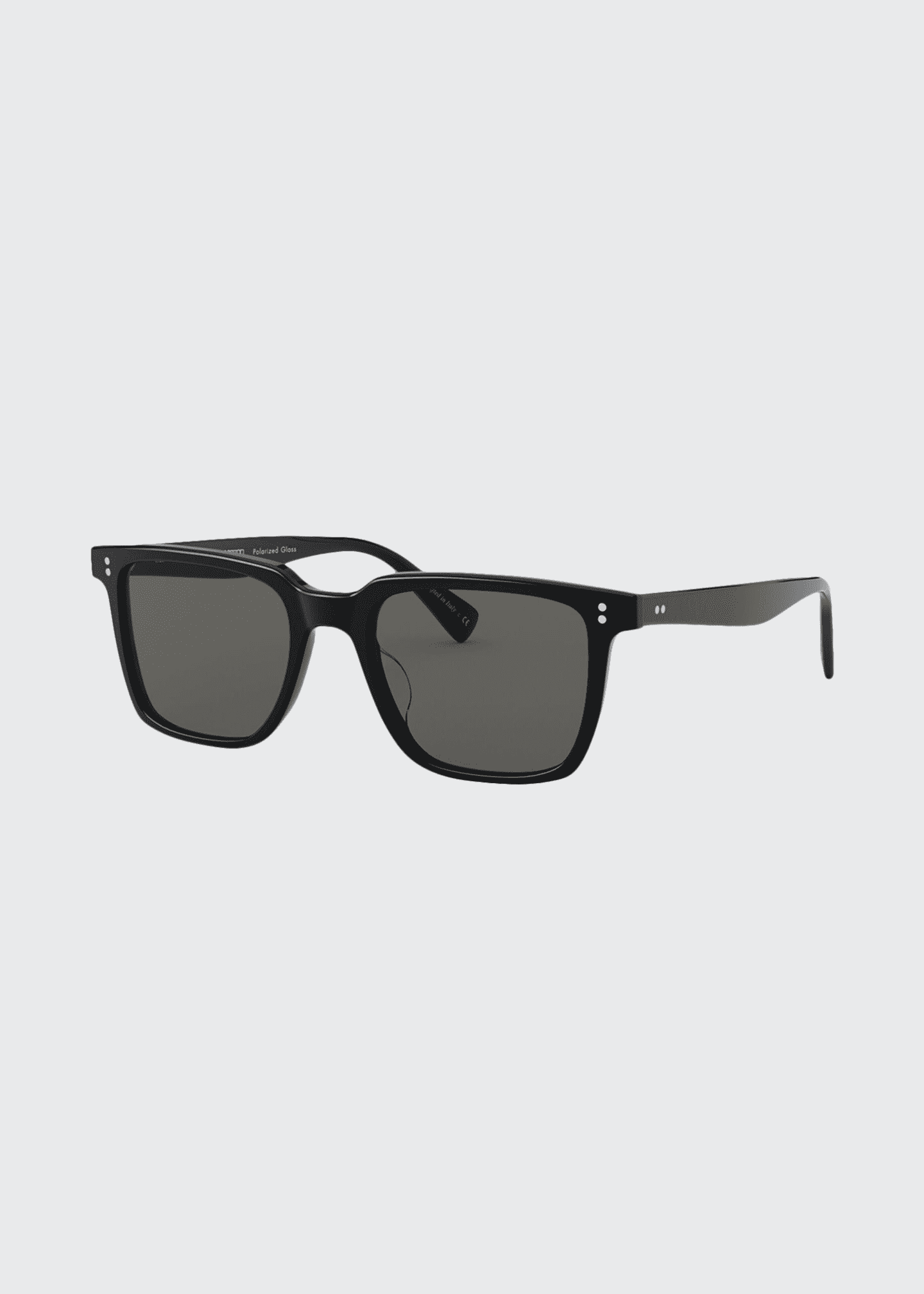 Image 1 of 2: Square Polarized Acetate Sunglasses